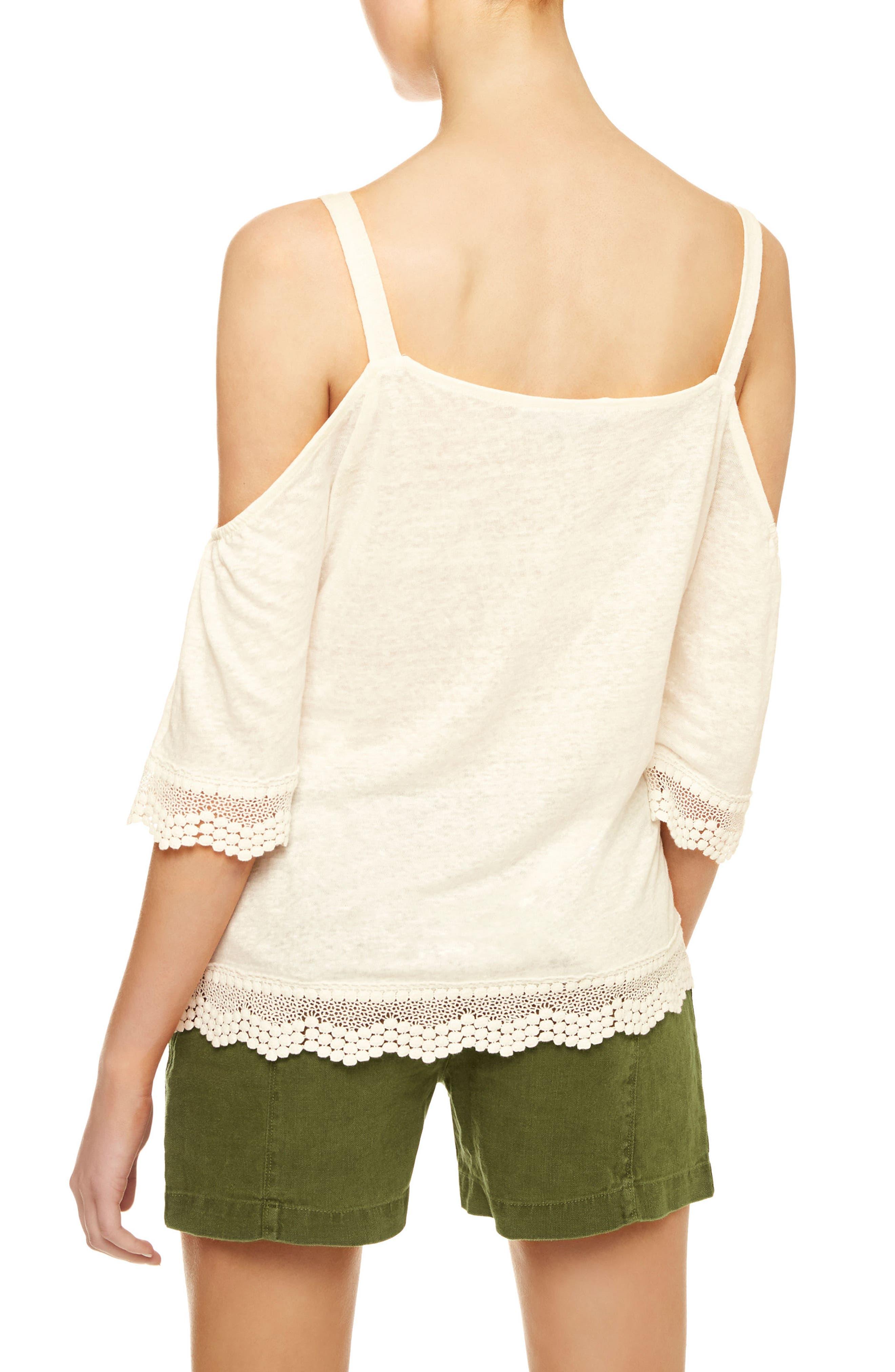 Alternate Image 2  - Sanctuary Harmony Lace Trim Linen Knit Top
