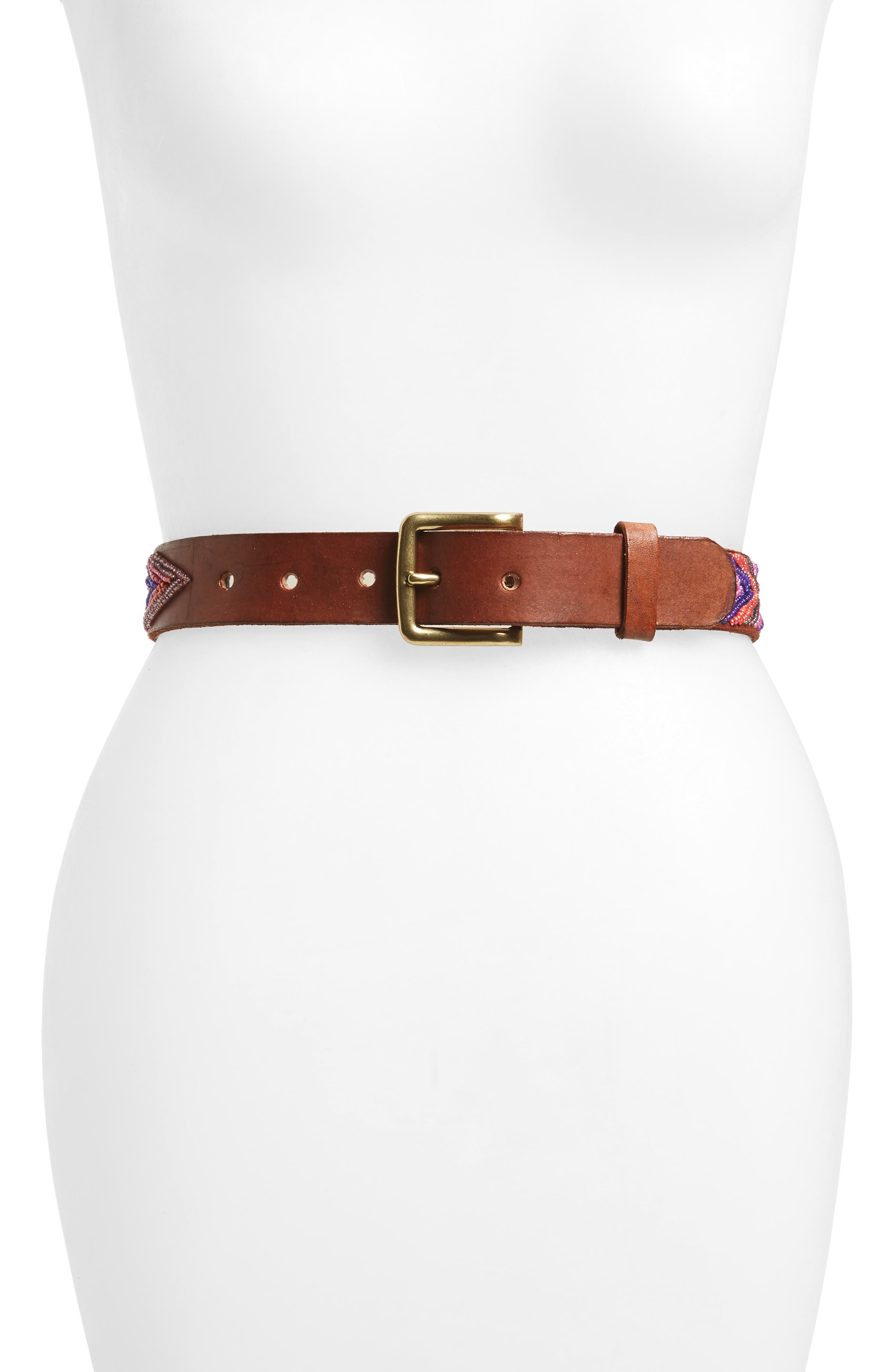 Aspiga Arrow Beaded Leather Belt