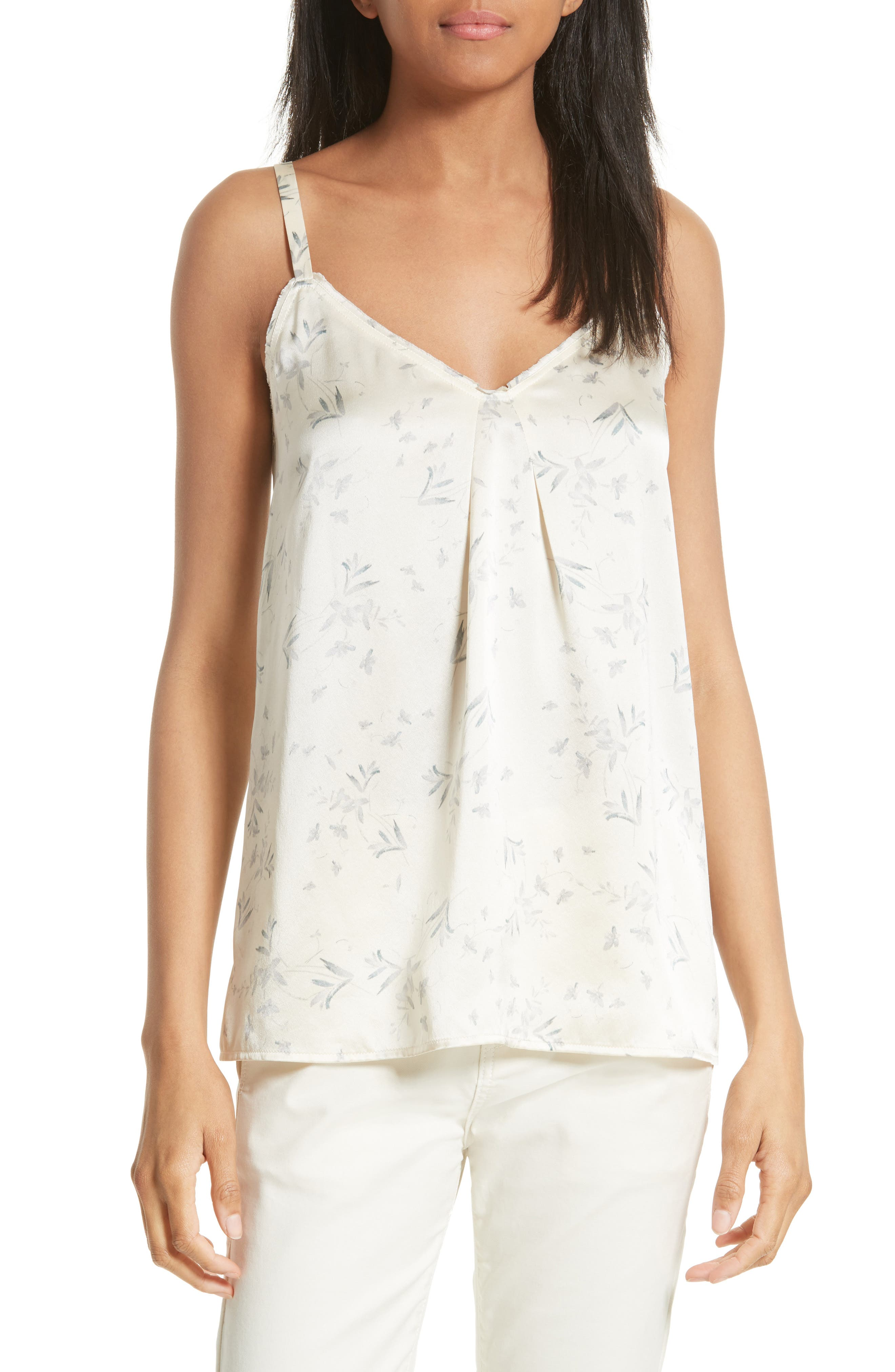 Vince Floral Silk Camisole