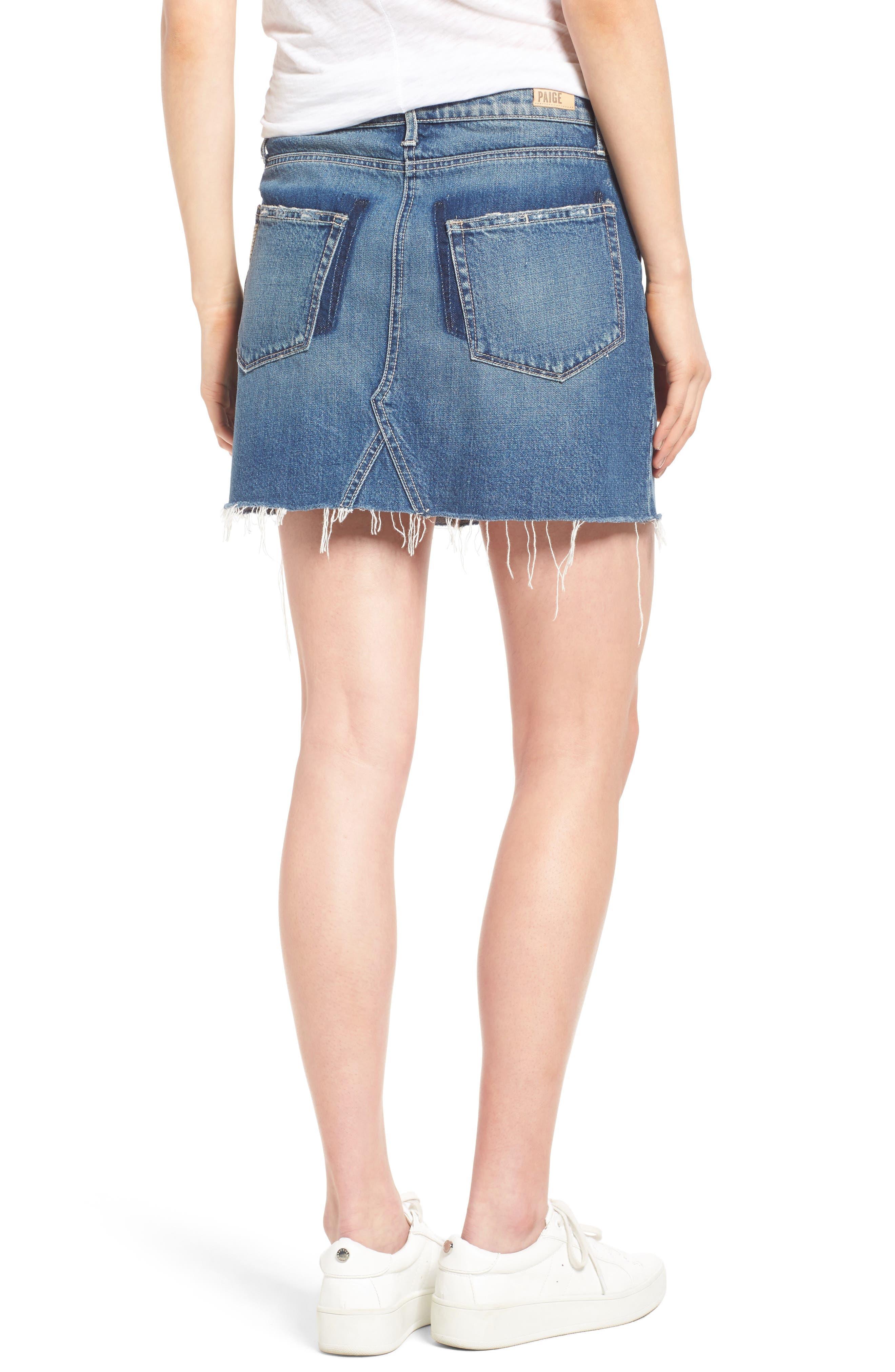 Alternate Image 3  - PAIGE Alethea Cutoff Denim Miniskirt