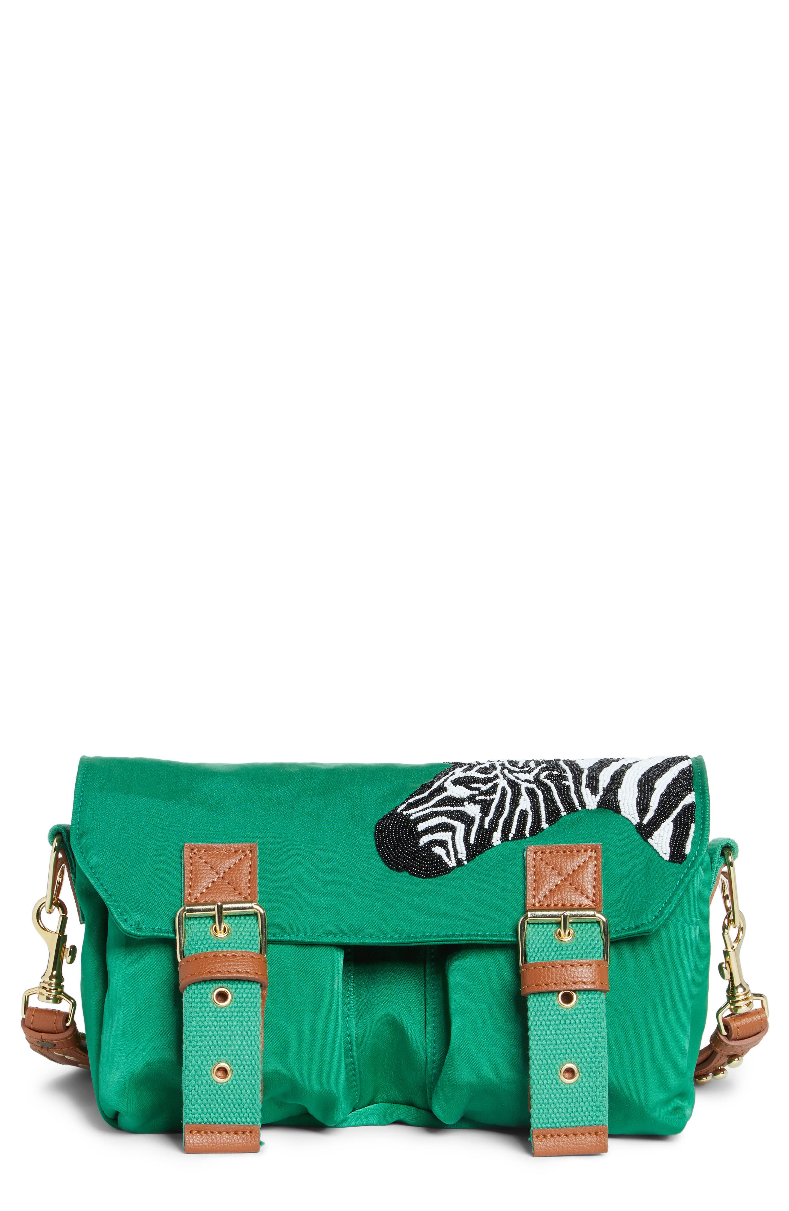 Michael Nelson Malindi Zebra Crossbody Bag (Nordstrom Exclusive)