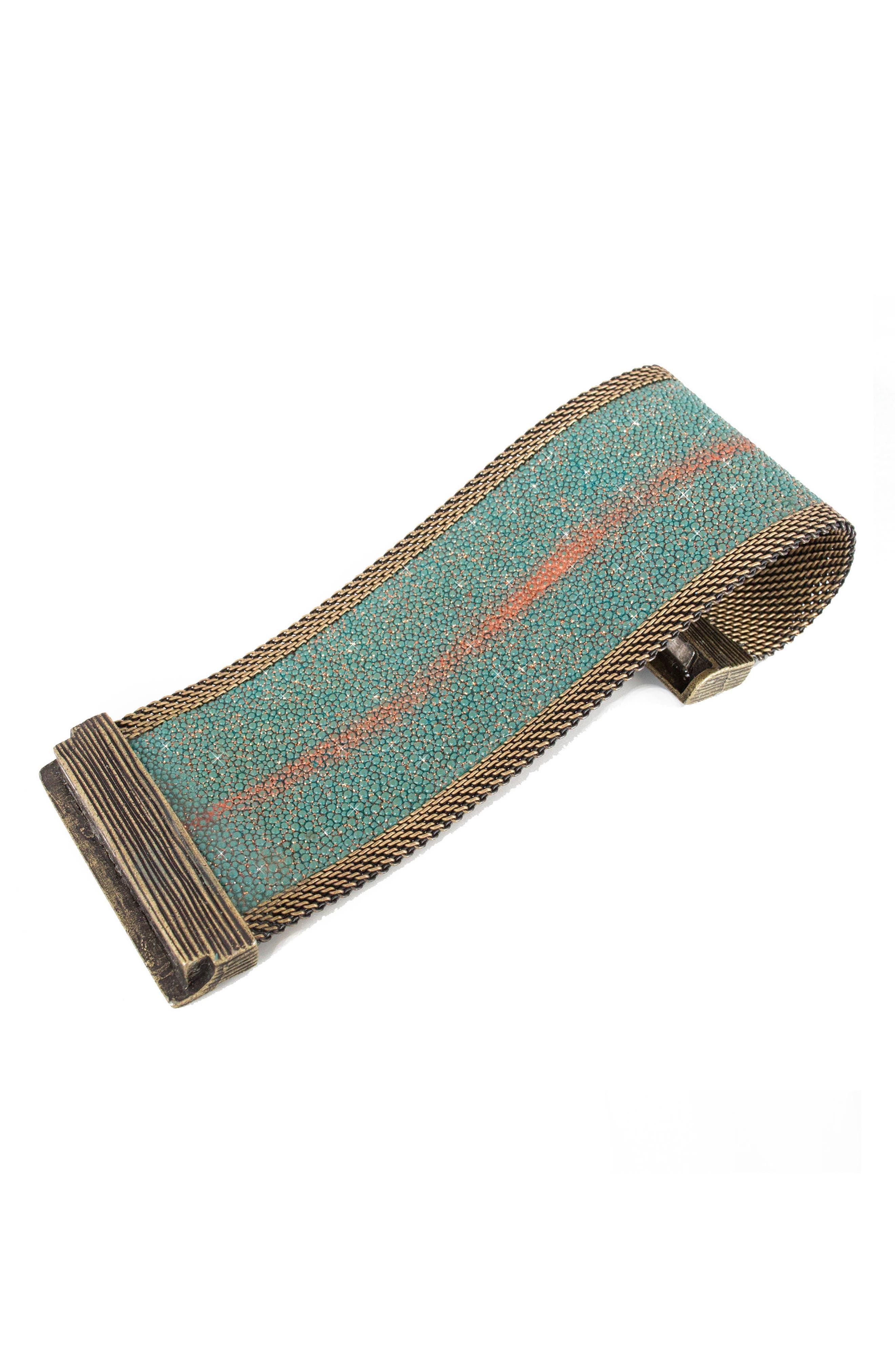 Alternate Image 3  - Cynthia Desser Genuine Stingray Skin Bracelet