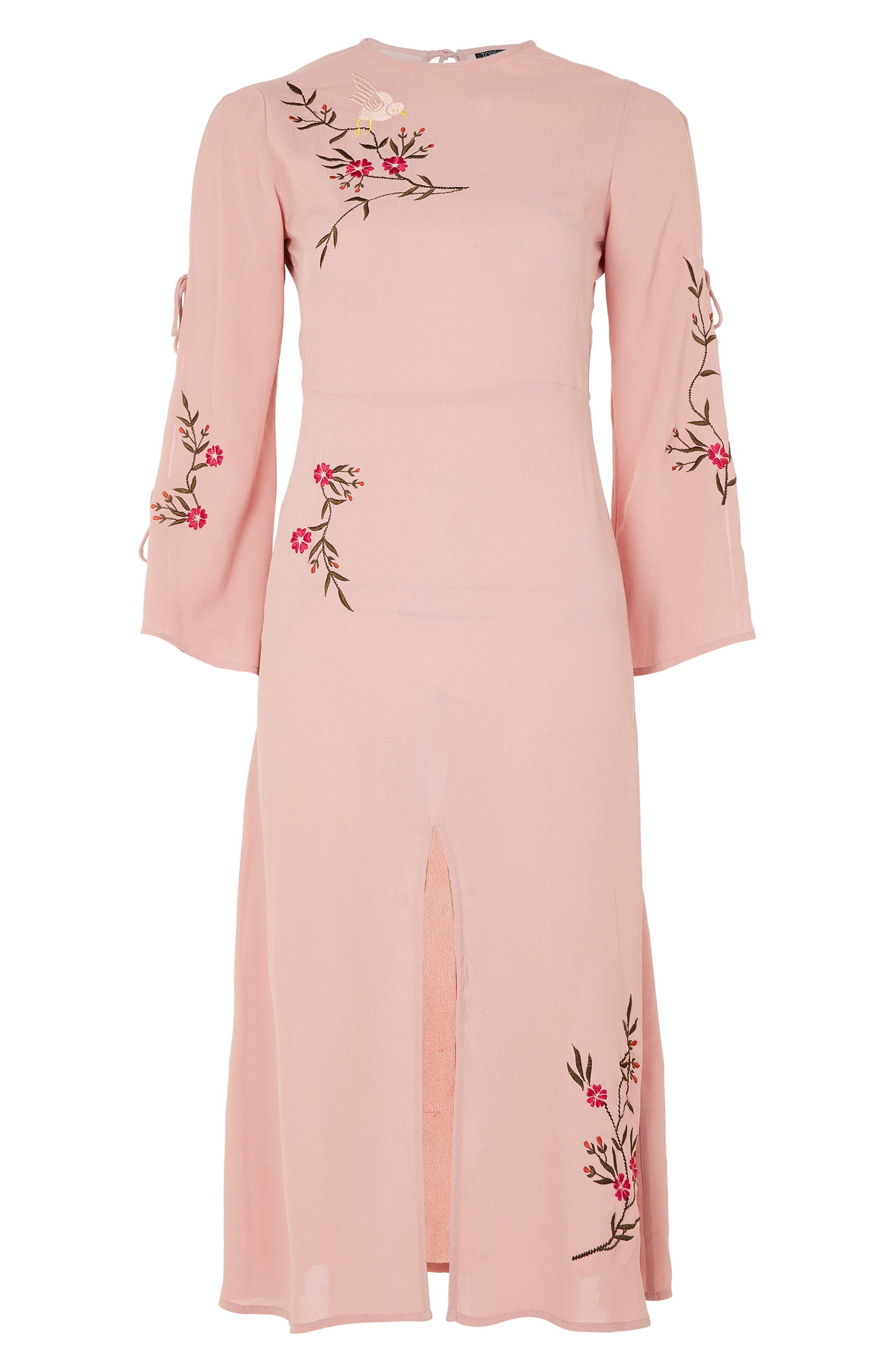 Alternate Image 4  - Topshop Tokyo Embroidered Midi Dress