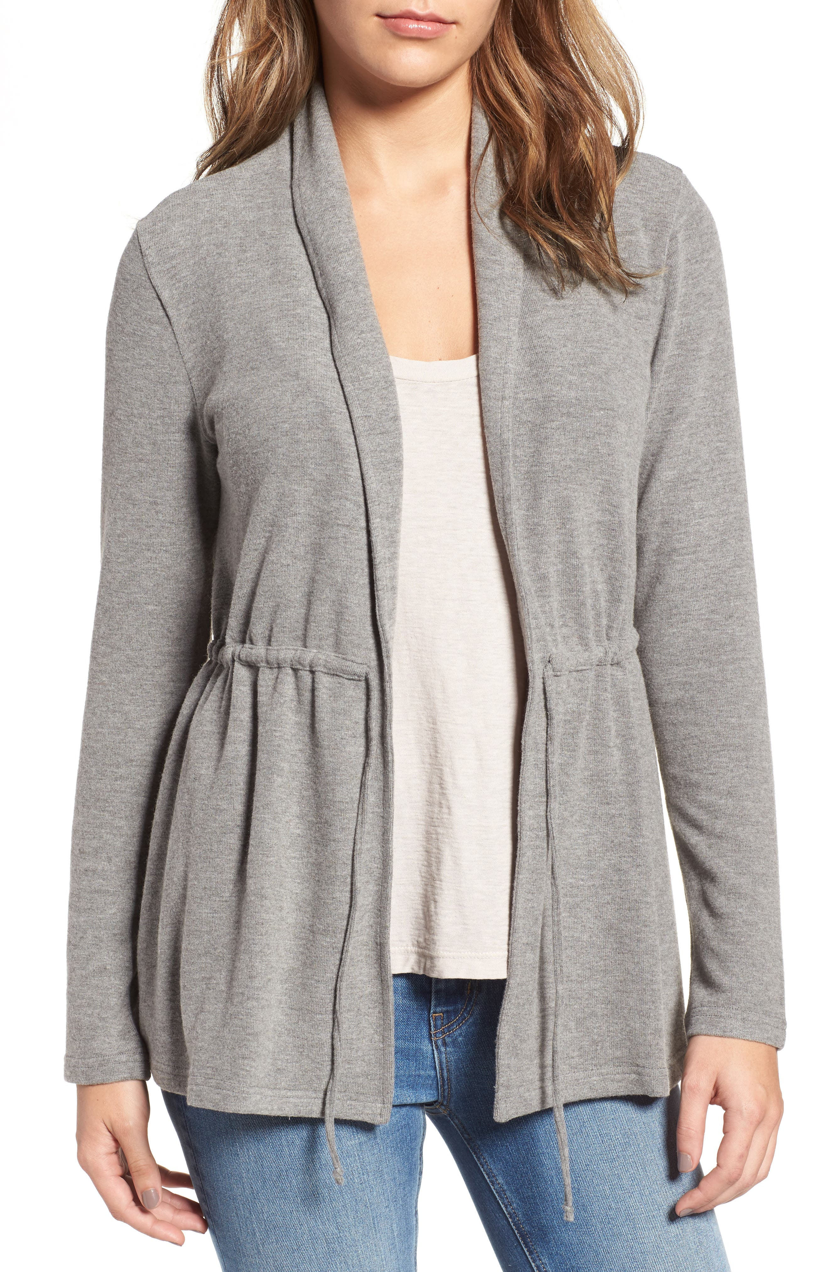 cupcakes and cashmere Nero Tie Front Cardigan