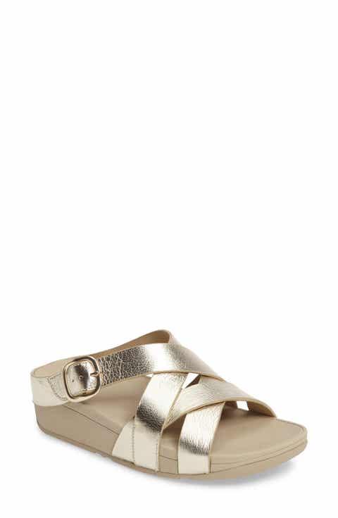 FitFlop®™ The Skinny Crisscross Slide Sandal (Women)