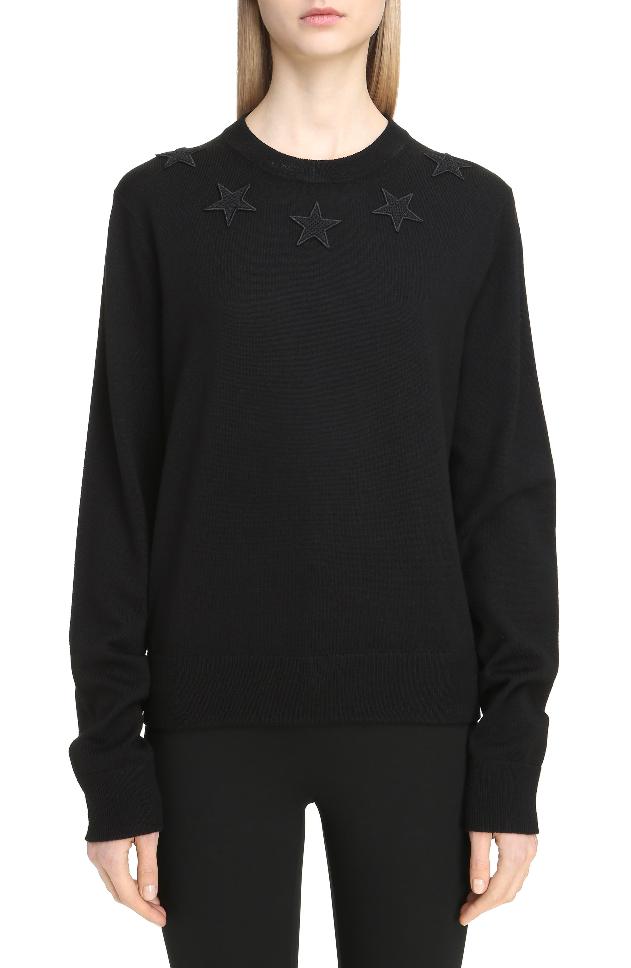 Main Image - Givenchy Star Embellished Wool Sweater