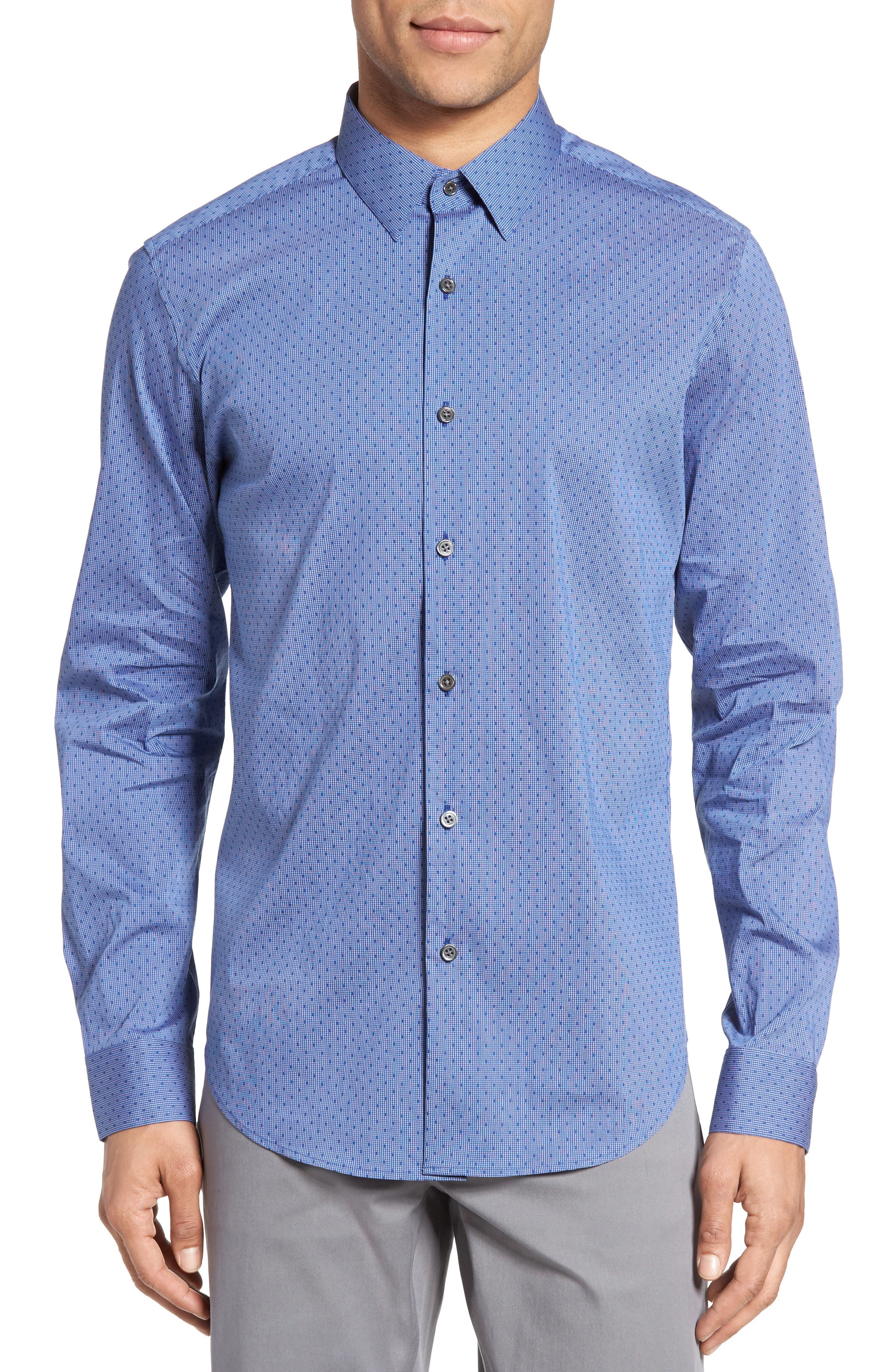 Theory Sylvain Adeney Trim Fit Sport Shirt