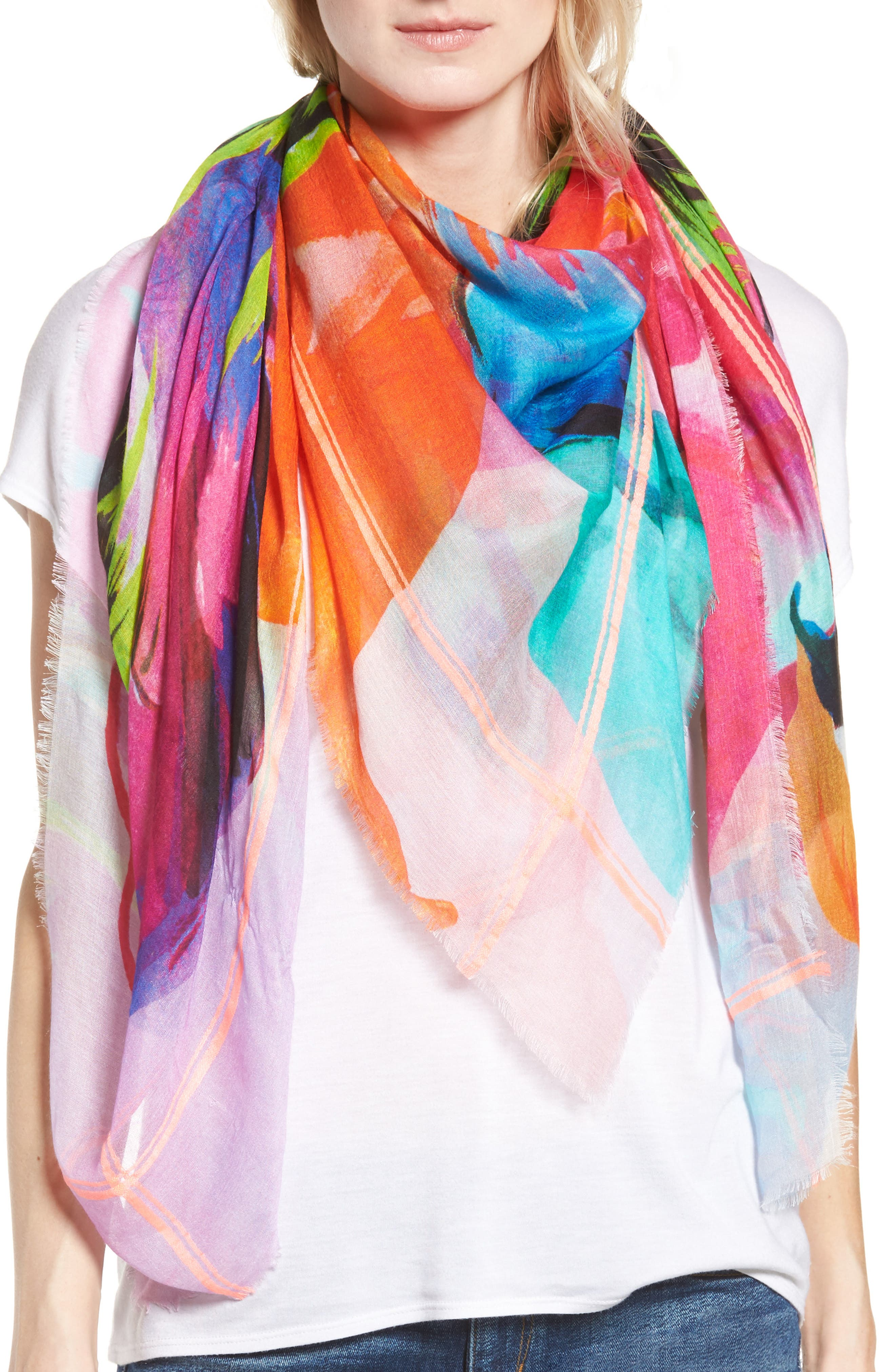 Echo Cuba Blooms Square Scarf