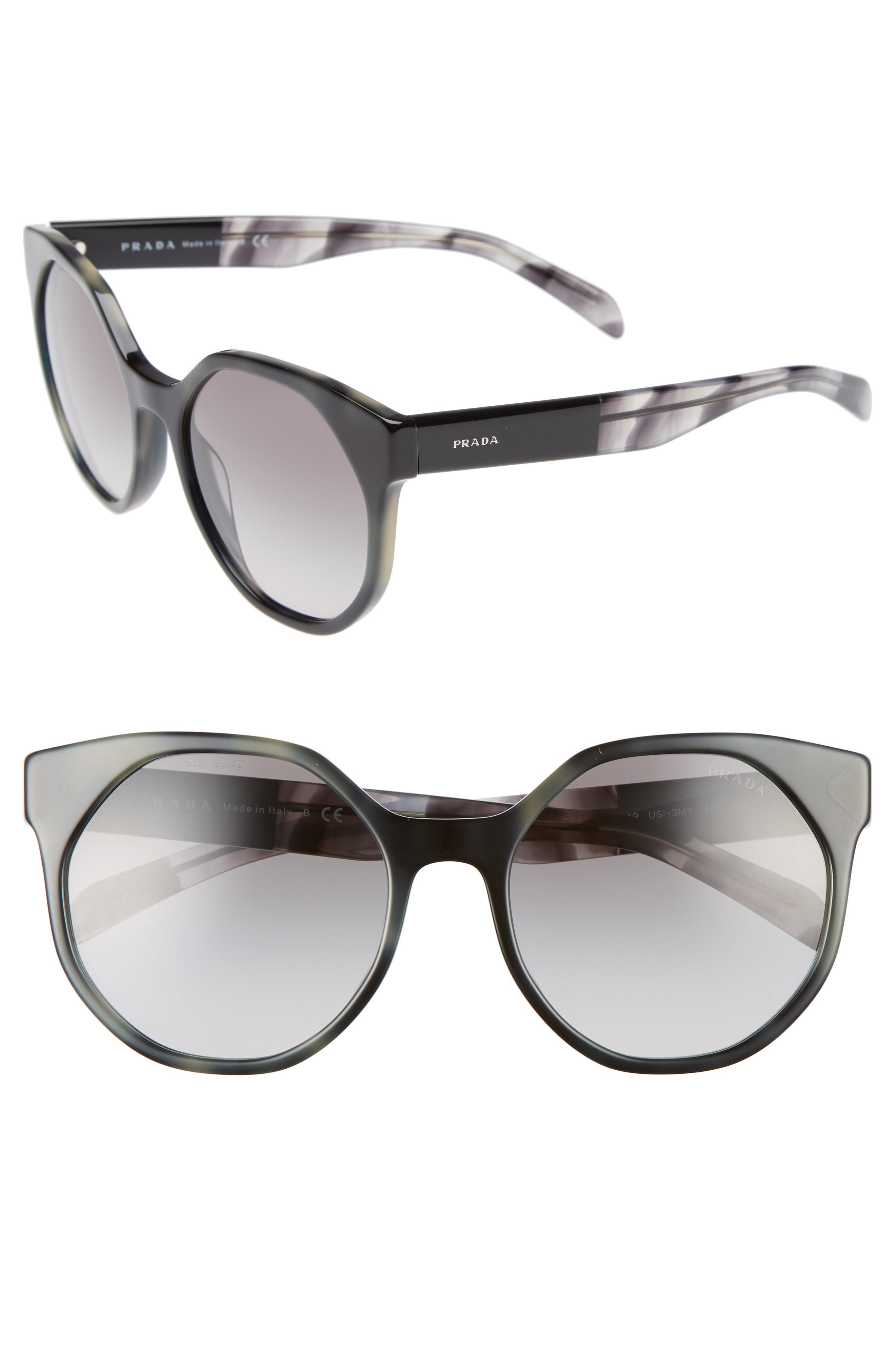 Prada 55mm Retro Sunglasses