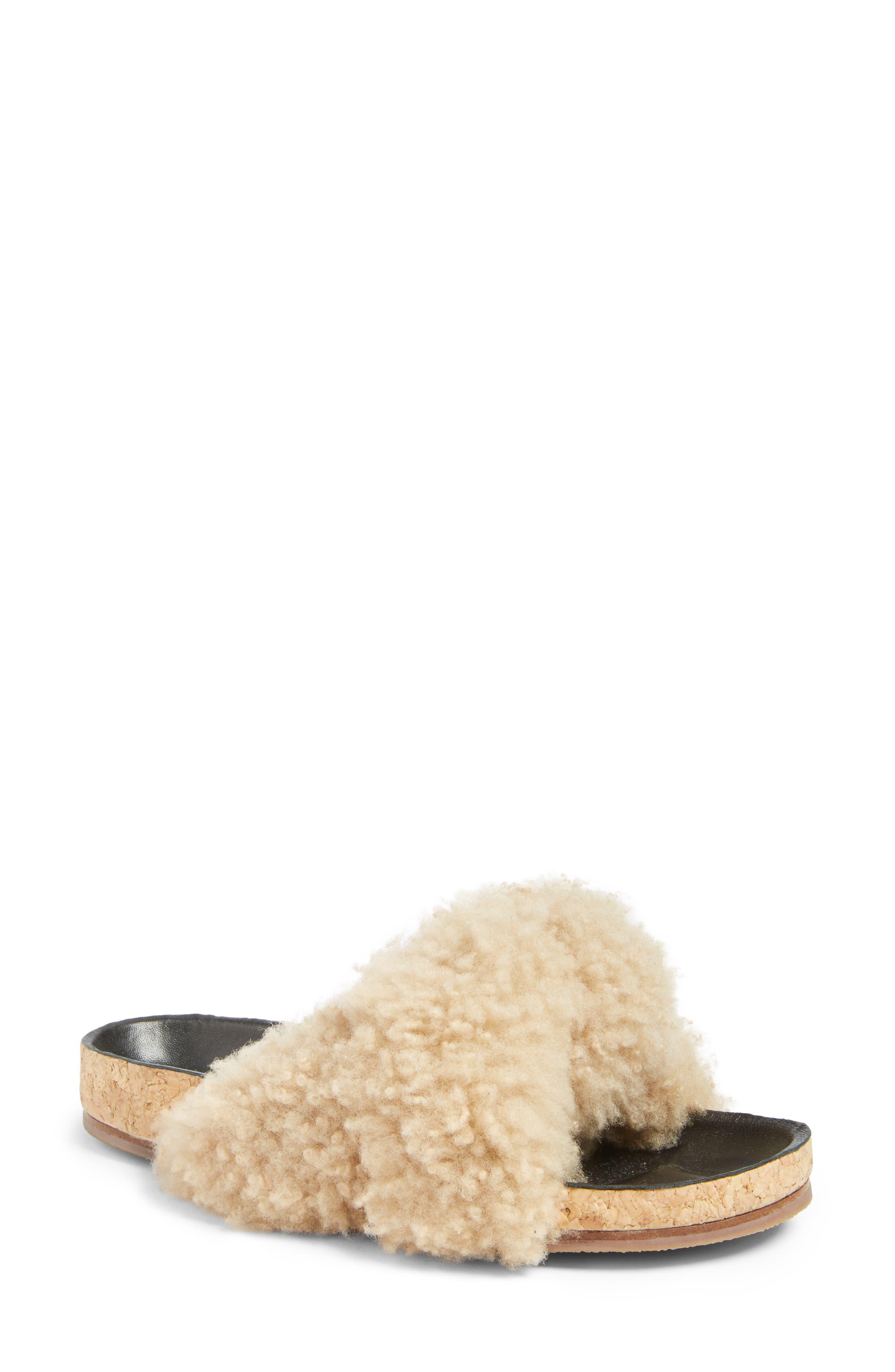 Main Image - Chloé Kerenn Genuine Shearling Sandal (Women)