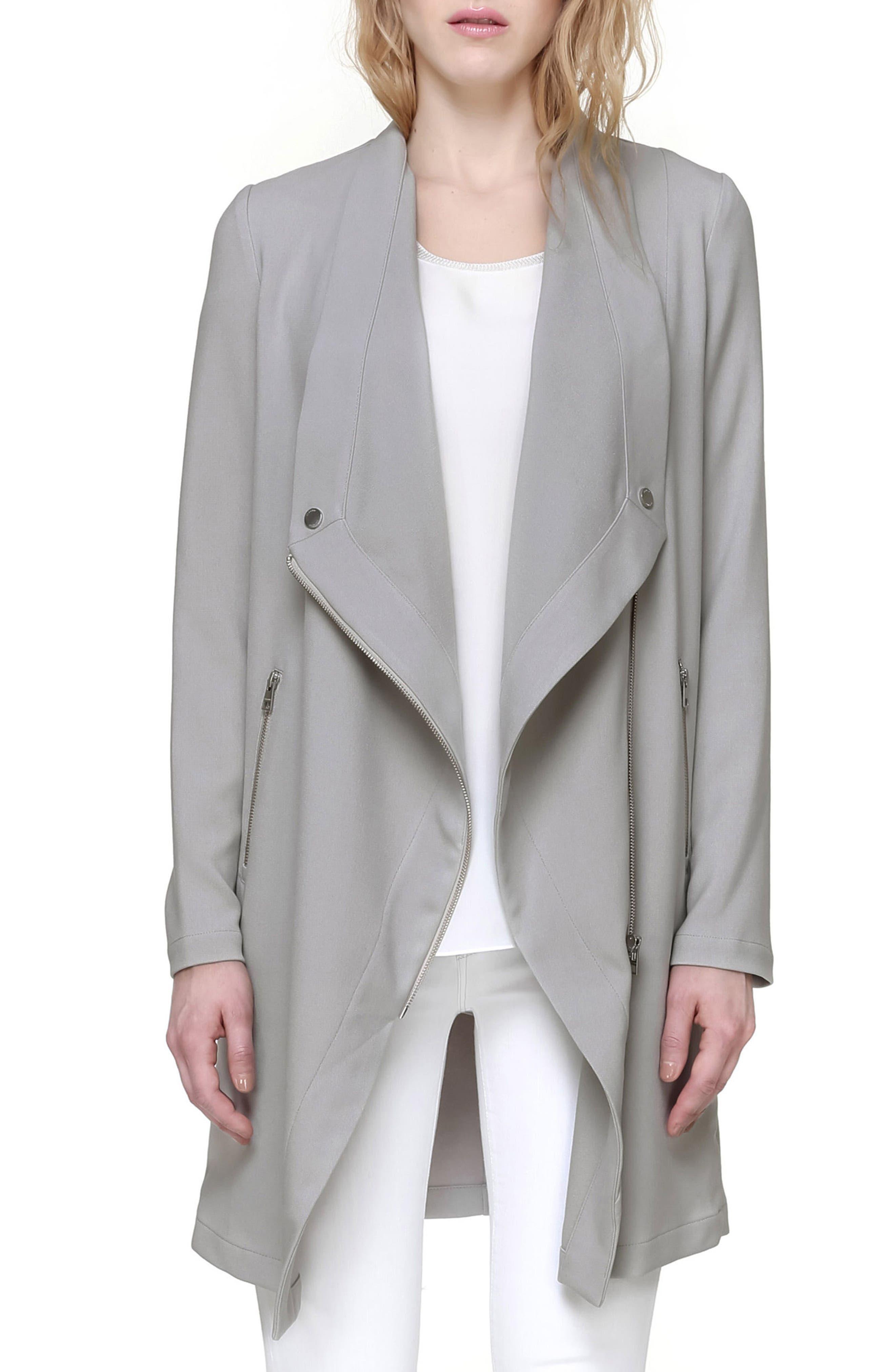 Soia & Kyo Draped Asymmetrical Coat