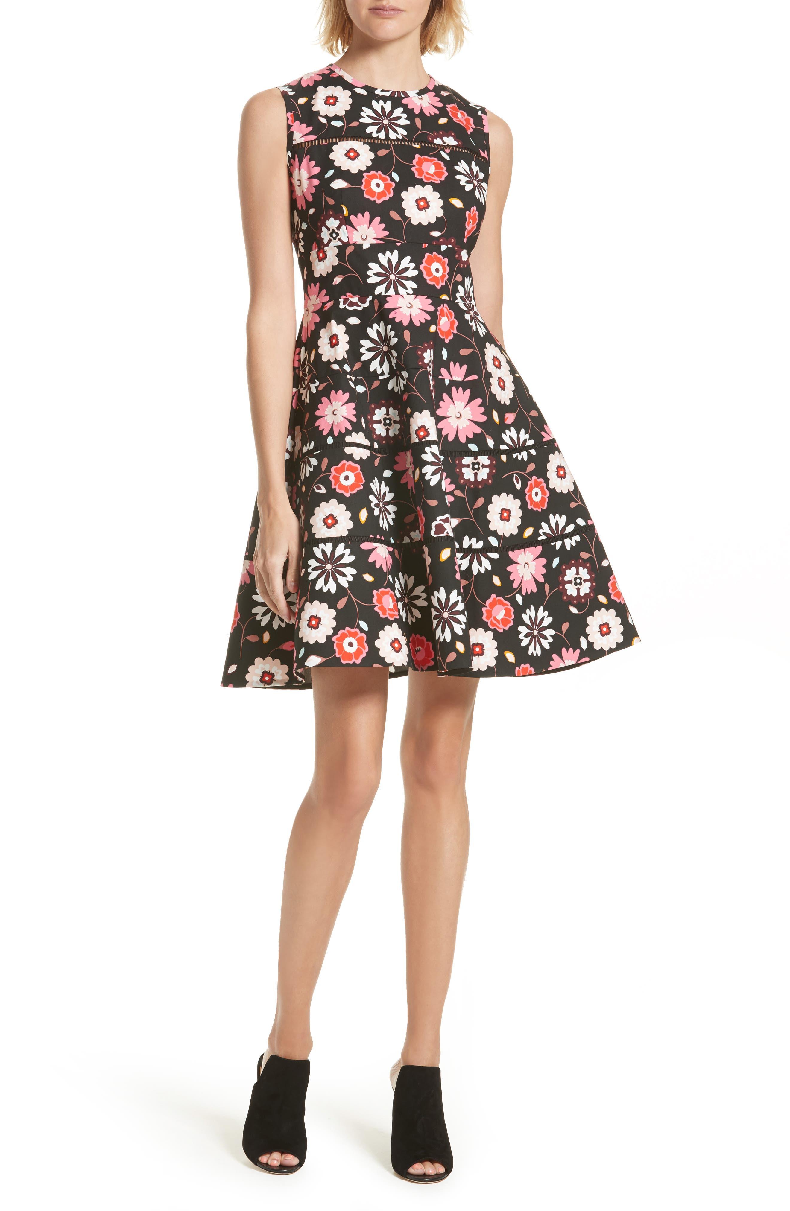 kate spade new york casa flora fit & flare dress