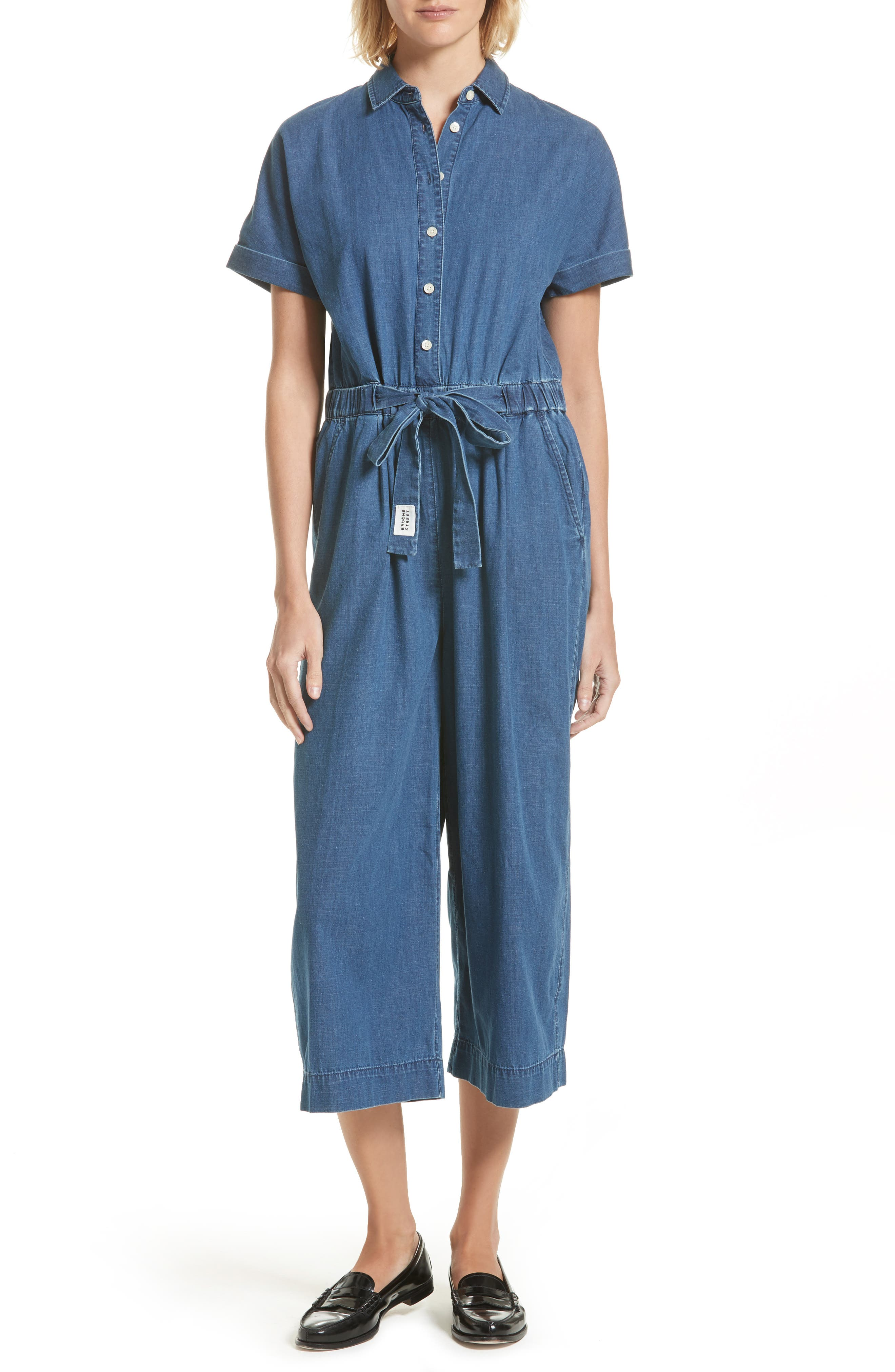 kate spade new york chambray jumpsuit