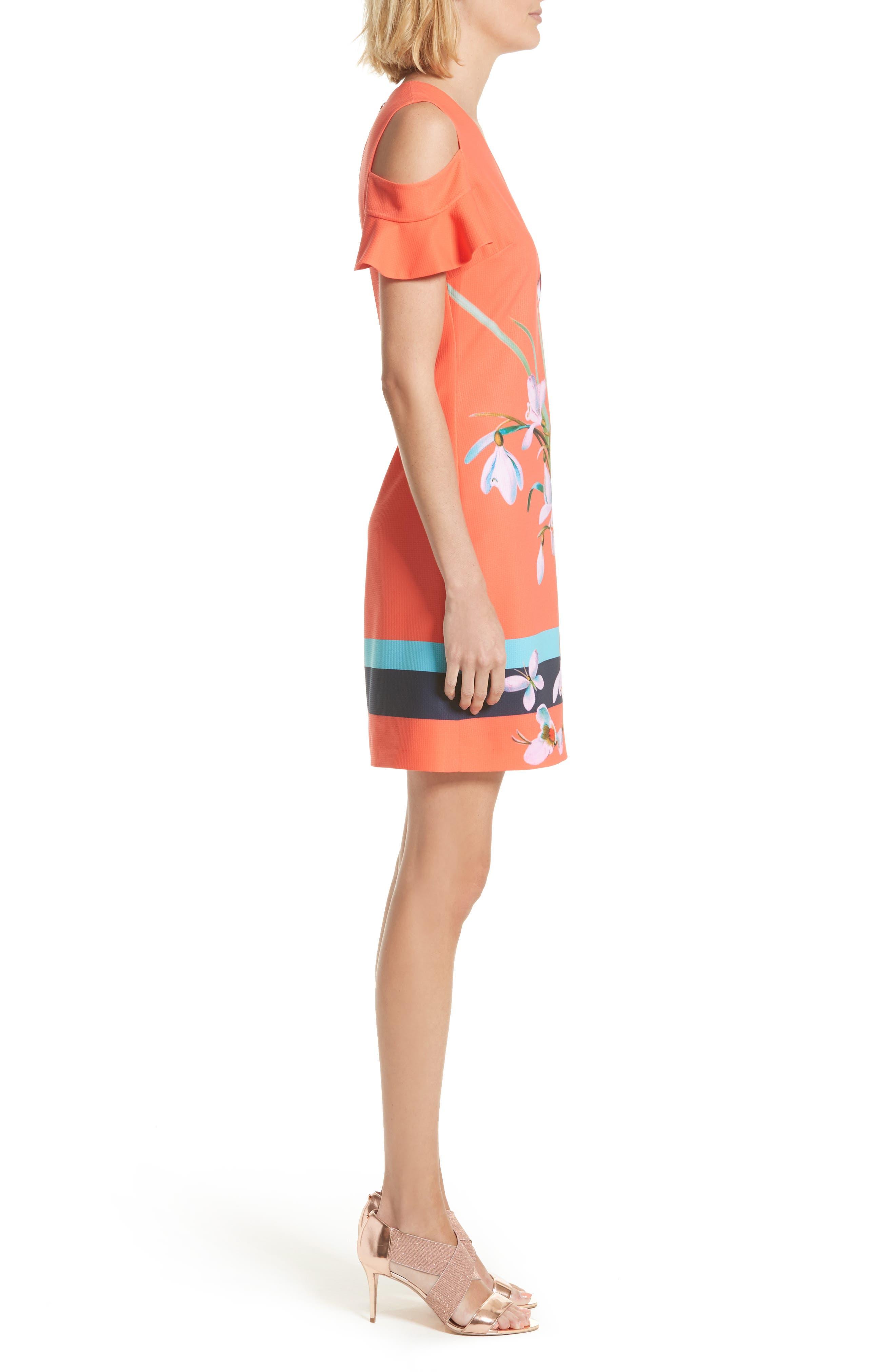 Alternate Image 4  - Ted Baker London Leea Cold Shoulder Shift Dress