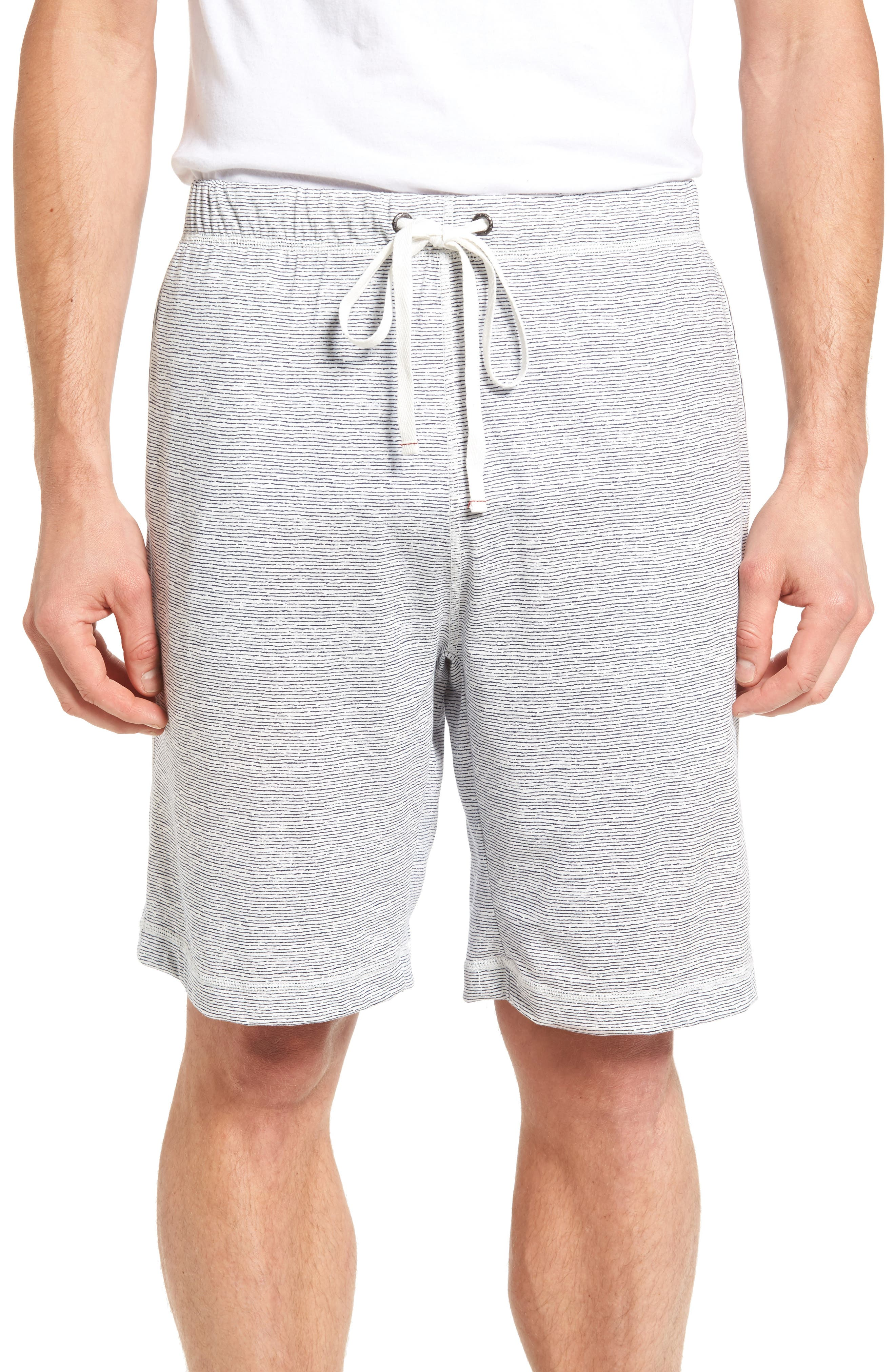 Daniel Buchler Feeder Stripe Pima Cotton & Modal Lounge Shorts