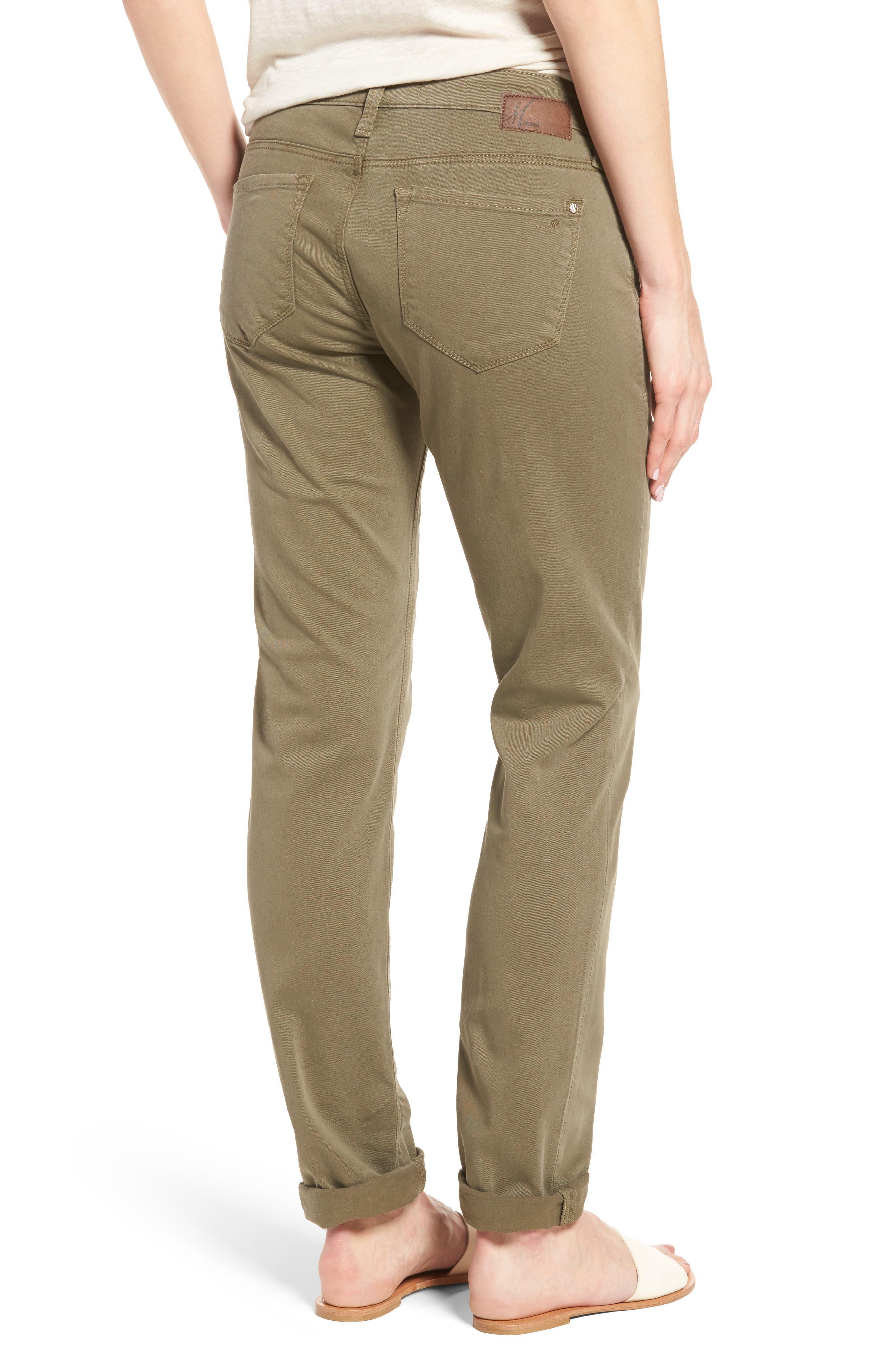 Alternate Image 2  - Mavi Jeans Emma Slim Boyfriend Stretch Twill Pants