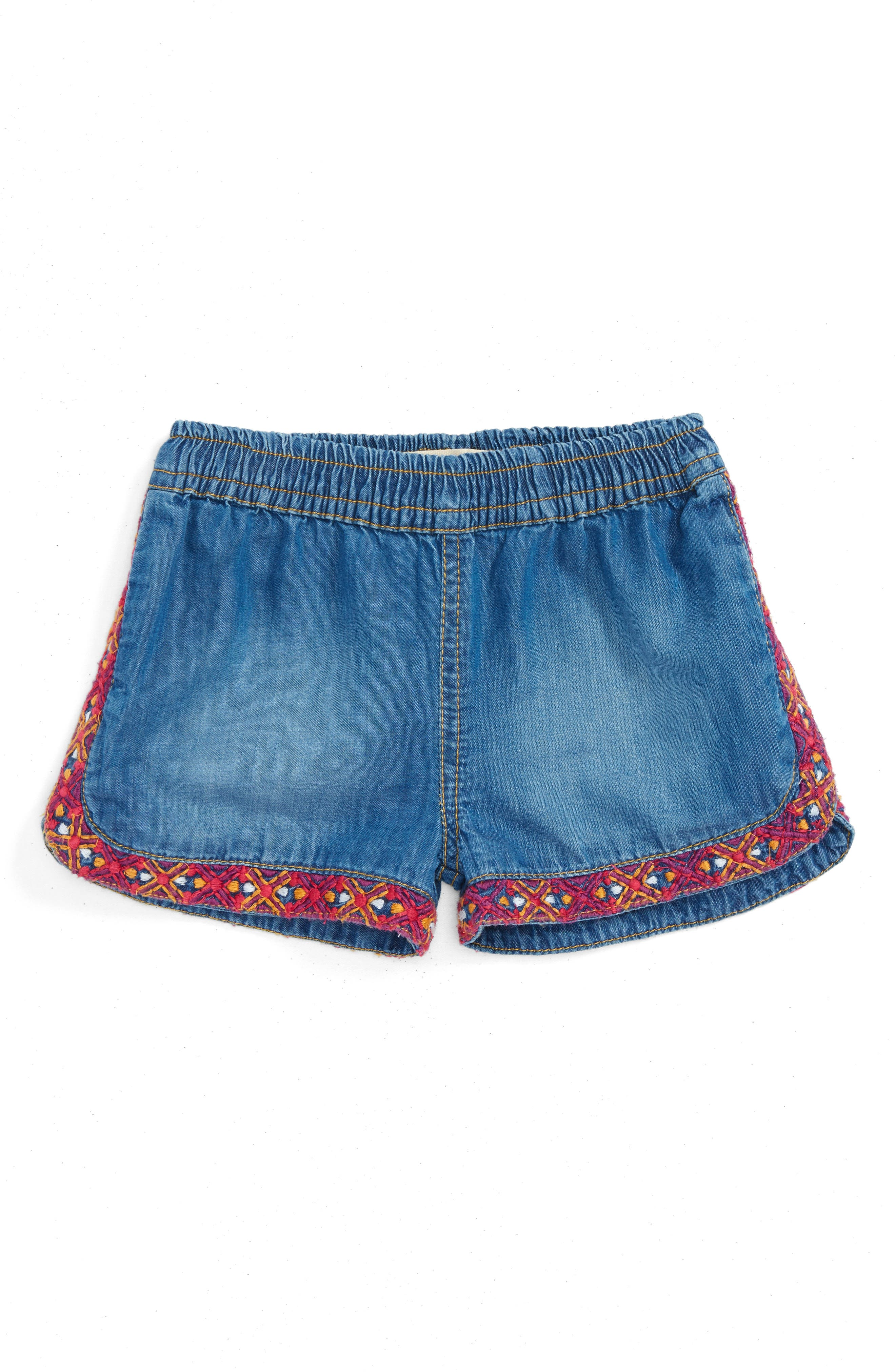 Peek Maria Embroidered Shorts (Baby Girls)
