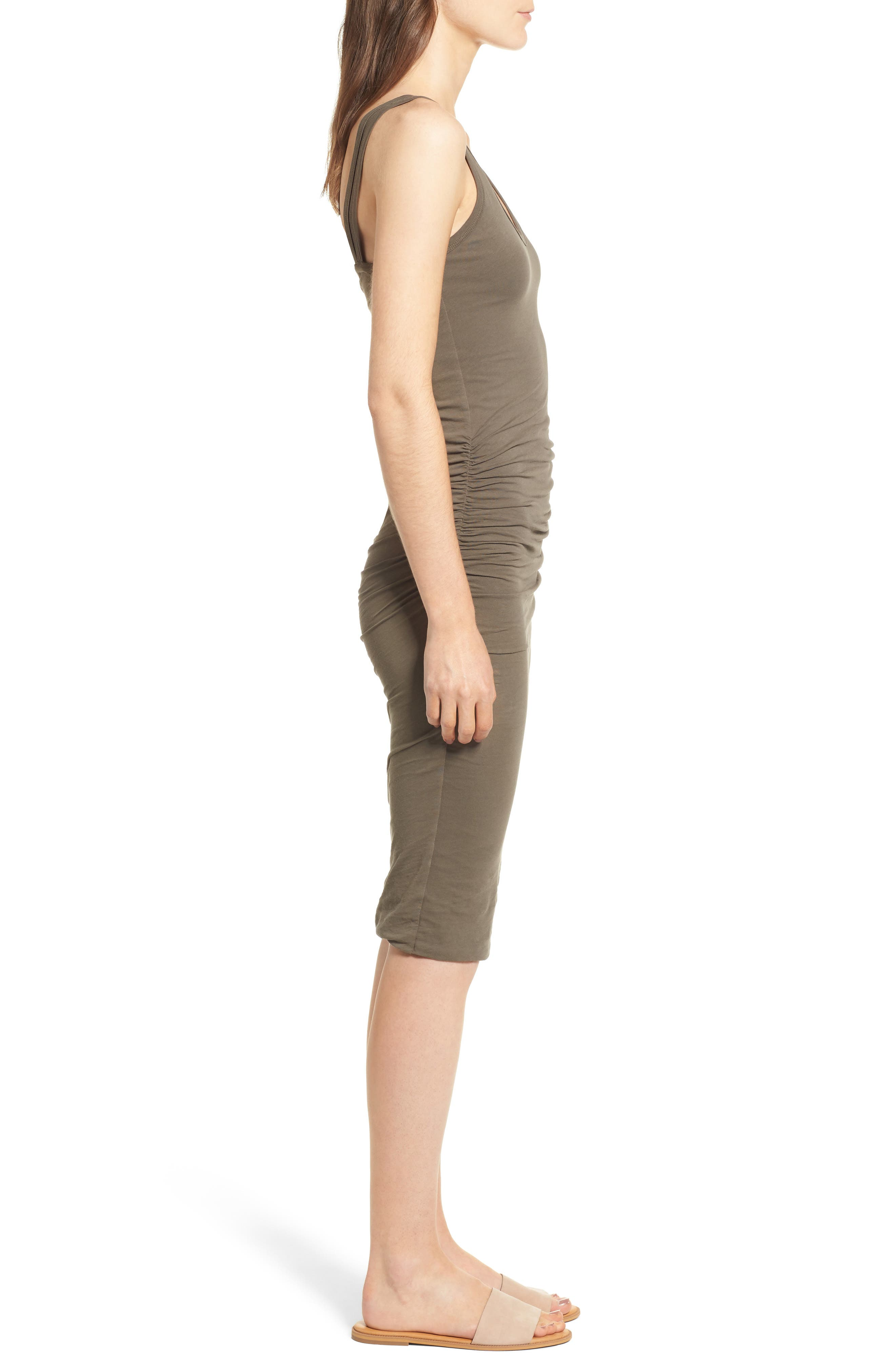 Alternate Image 3  - James Perse Skinny Ruched Tank Dress
