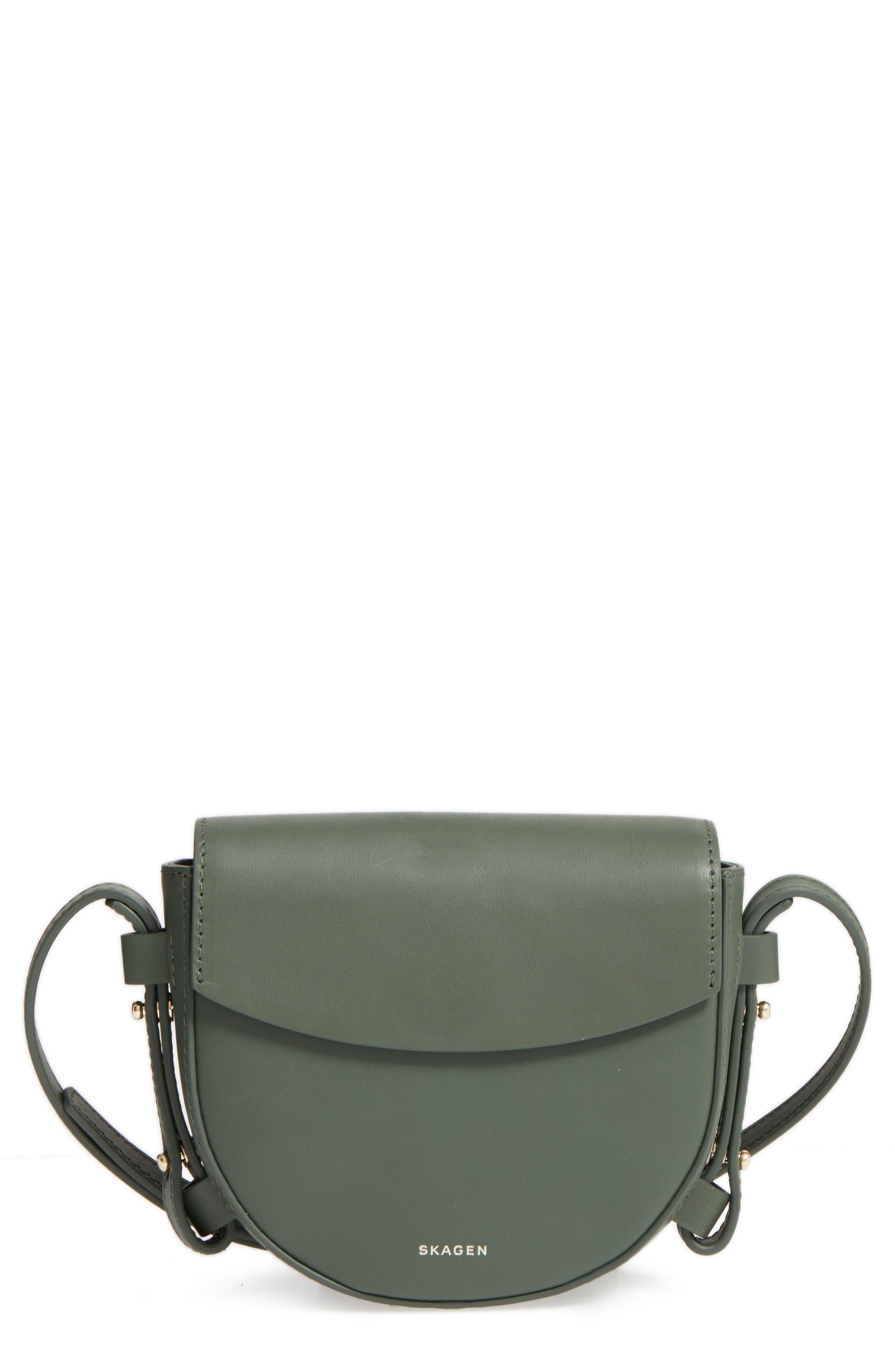 Skagen Mini Lobelle Leather Saddle Bag