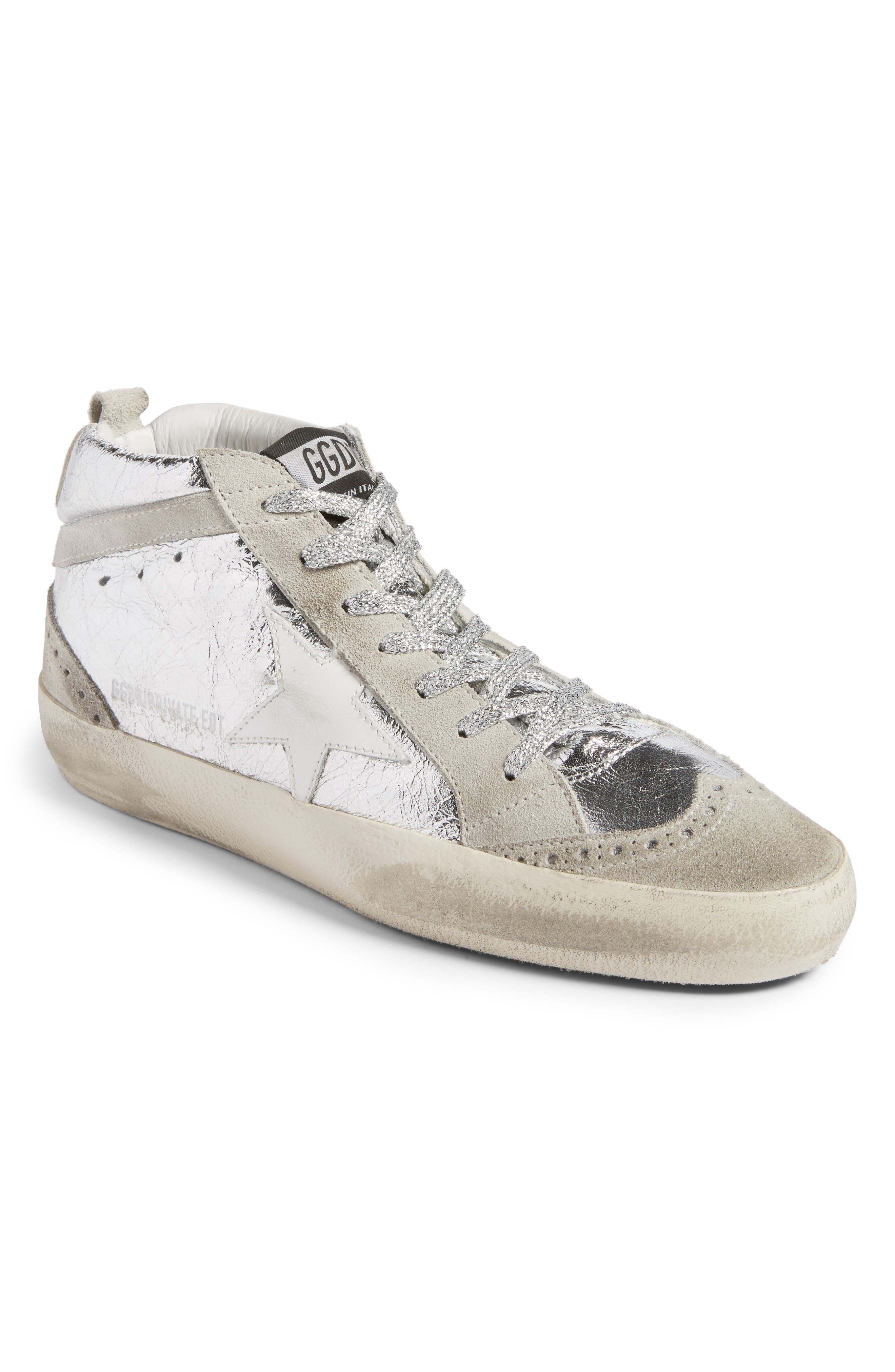 Golden Goose Mid Star Metallic Sneaker (Women)