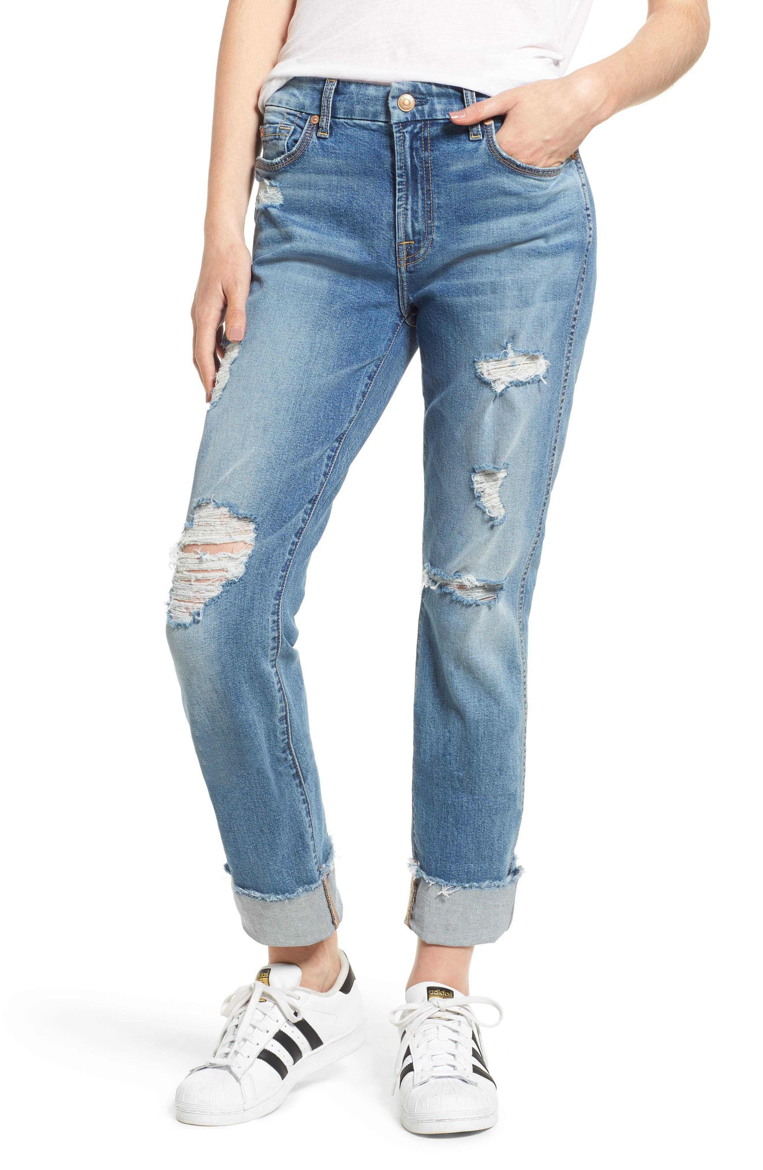 Alternate Image 1 Selected - 7 For All Mankind® Fashion High Waist Boyfriend Jeans (Vintage Air Classic)