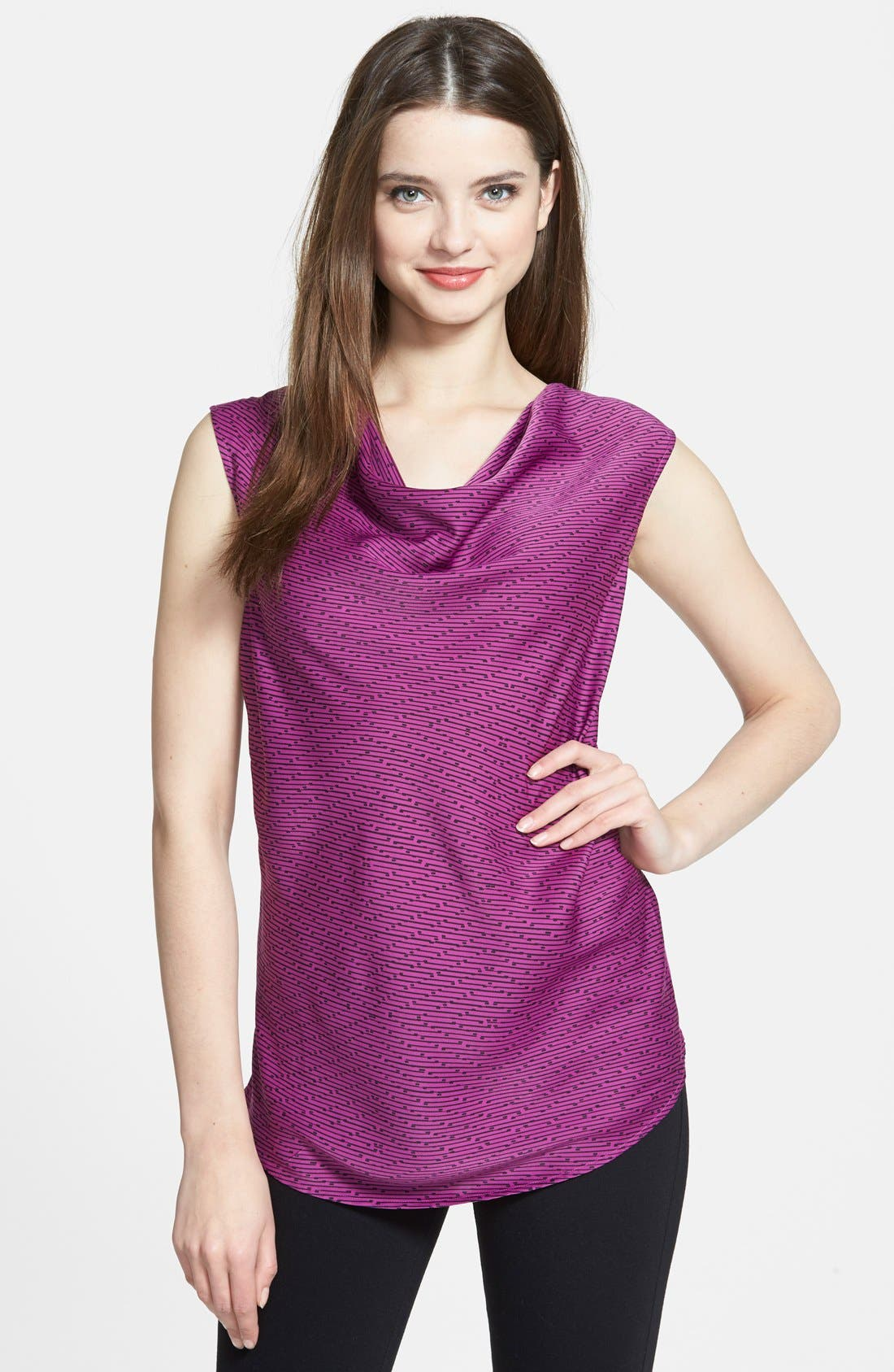 Main Image - Halogen® Sleeveless Drape Neck Top