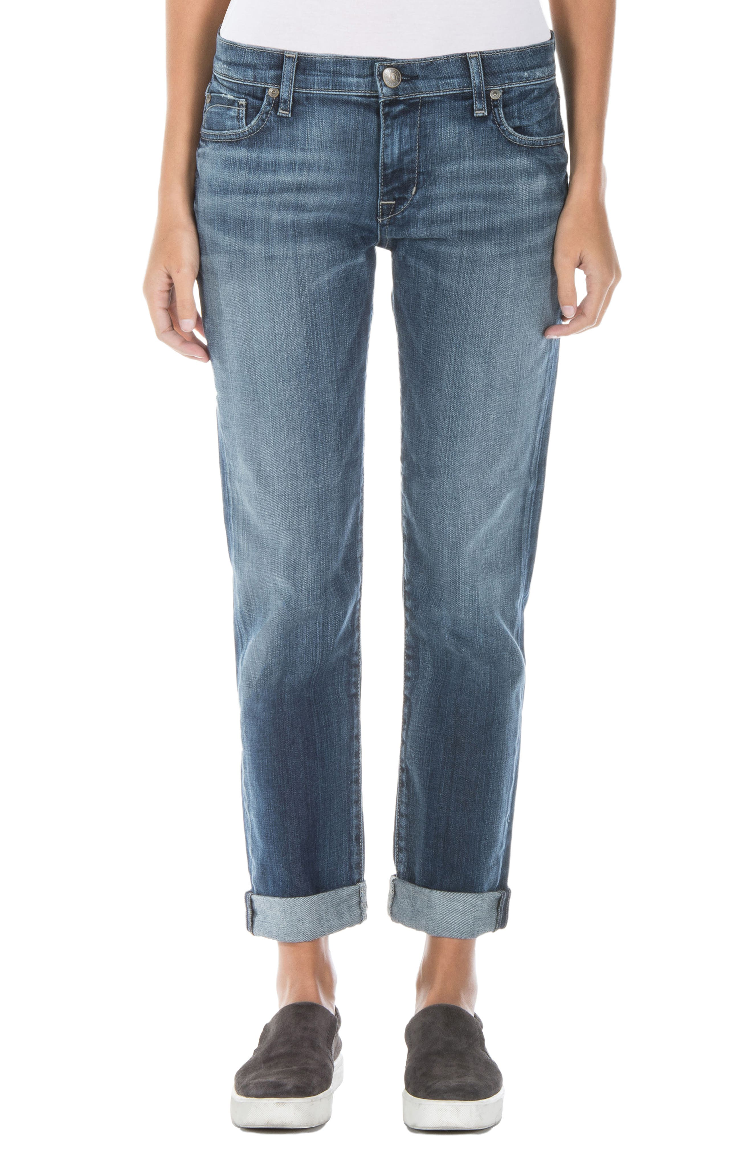Alternate Image 1 Selected - Fidelity Denim Axl Girlfriend Jeans (Exile Vintage)