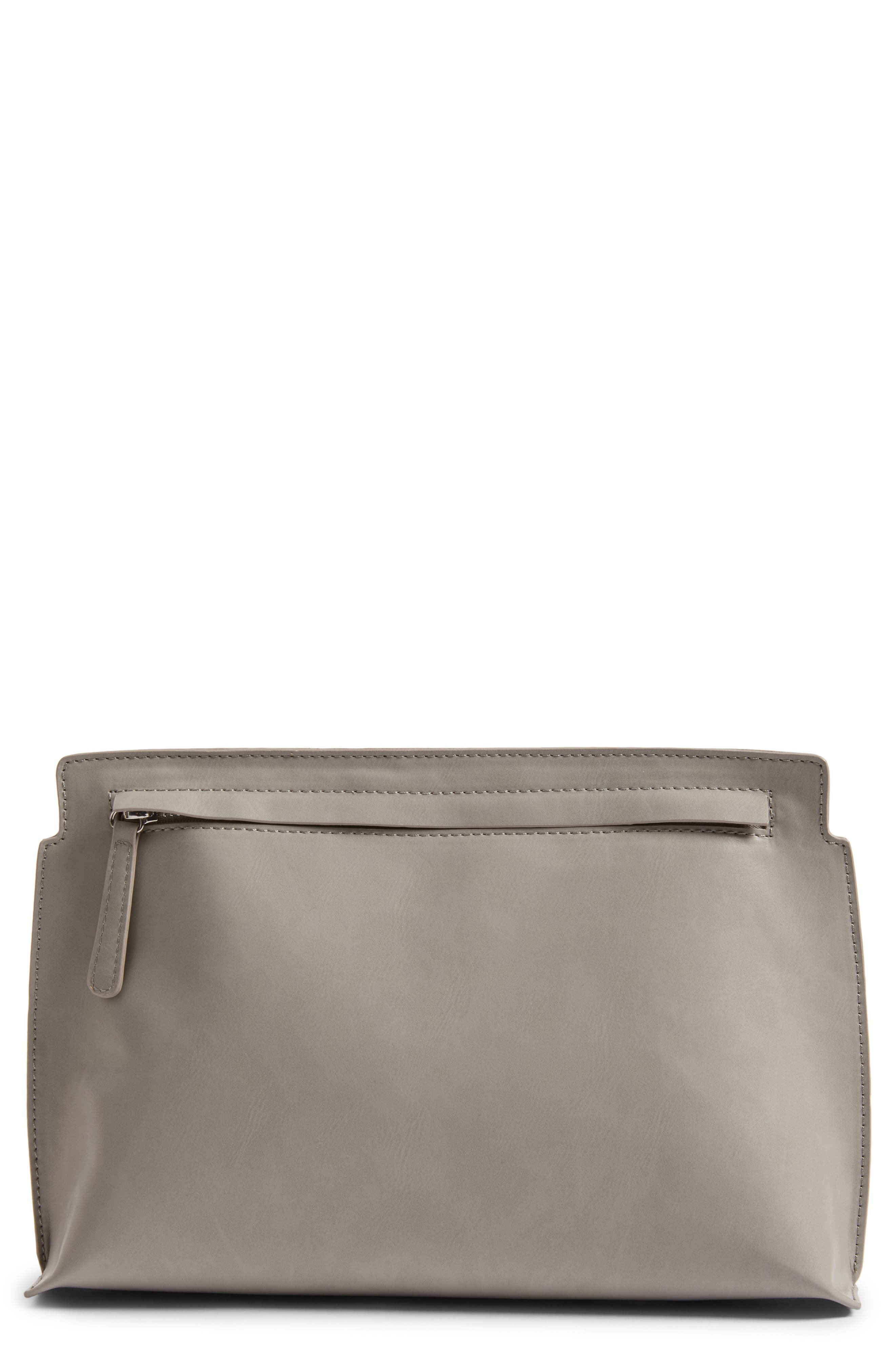 BP. Faux Leather Clutch
