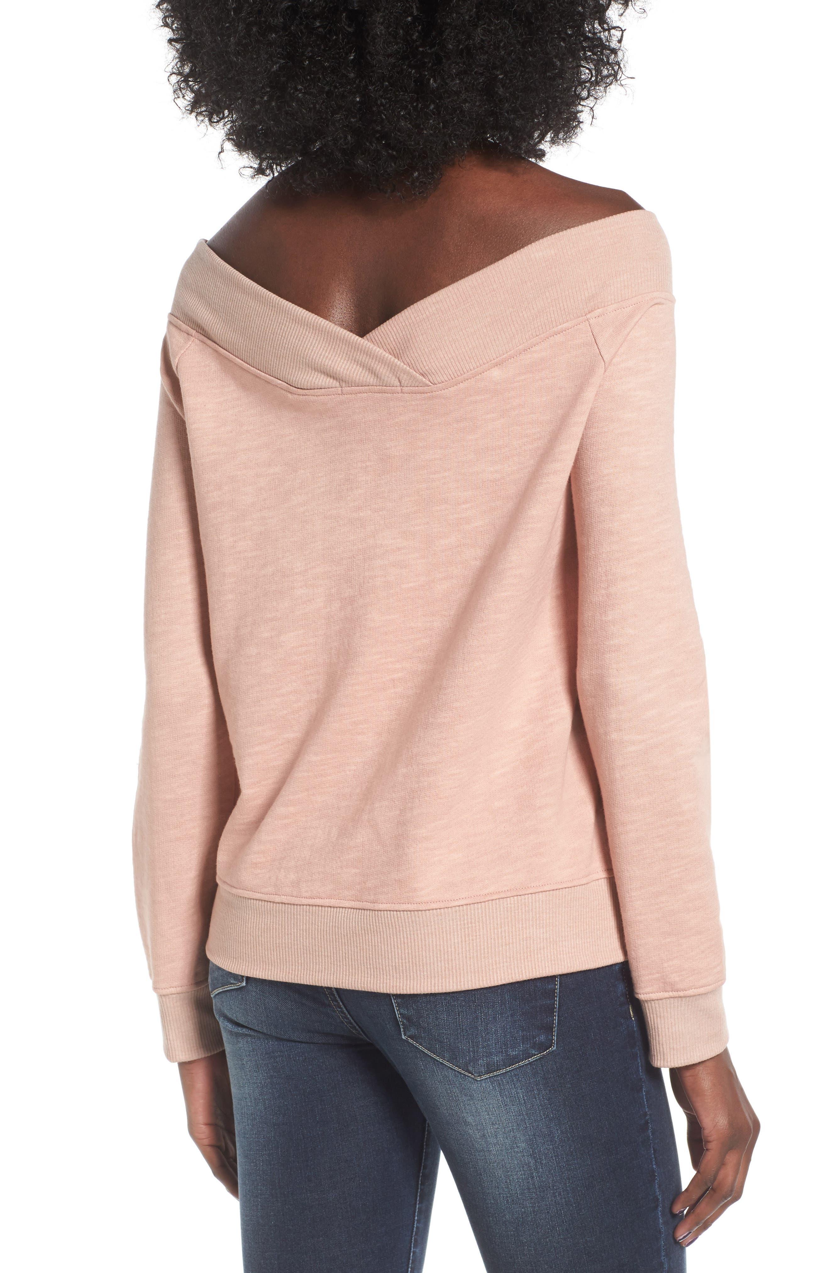 Alternate Image 2  - Socialite Off the Shoulder Sweatshirt