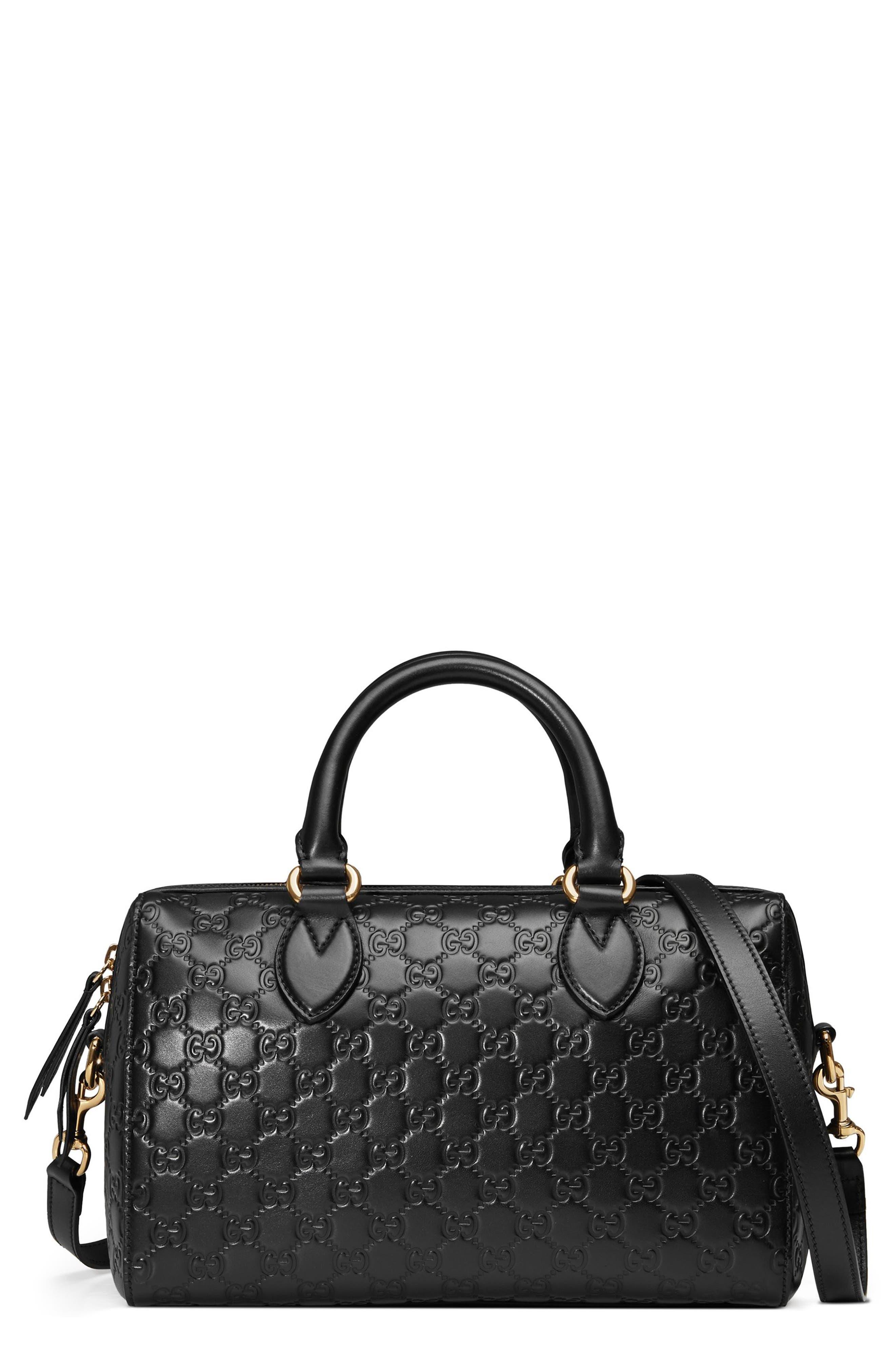 Gucci Medium Signature Top Handle Leather Satchel