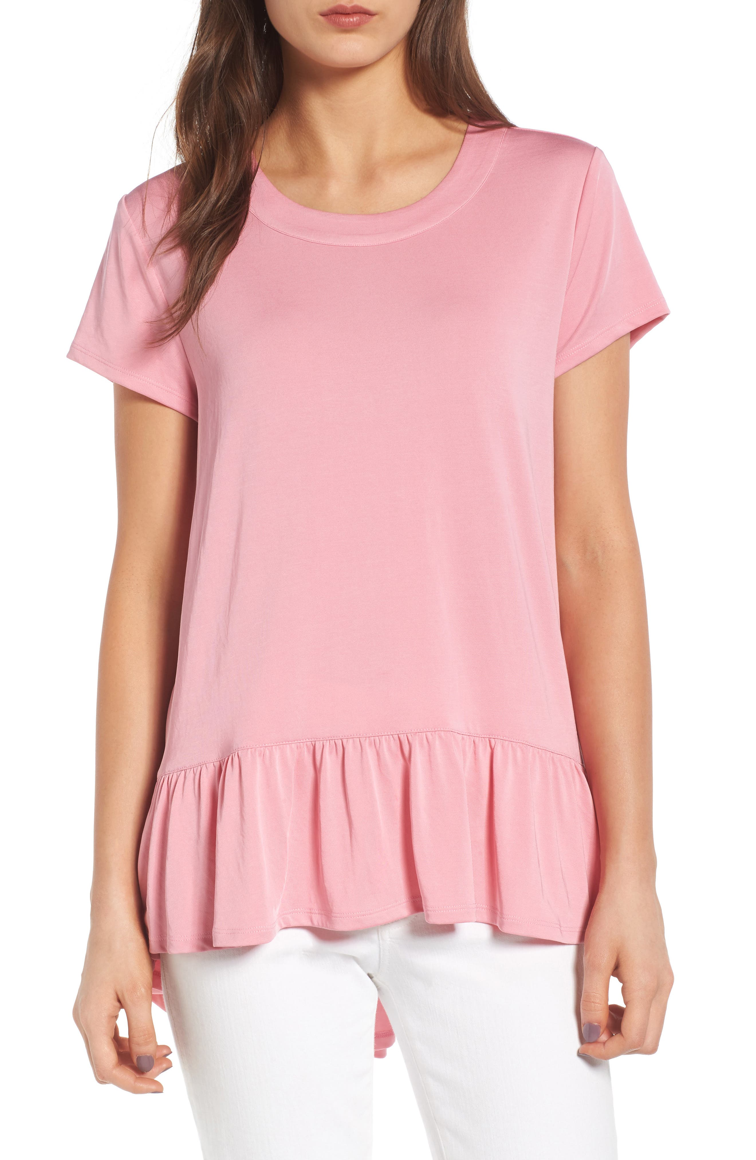 Alternate Image 1 Selected - Chelsea28 Ruffle Hem Tee