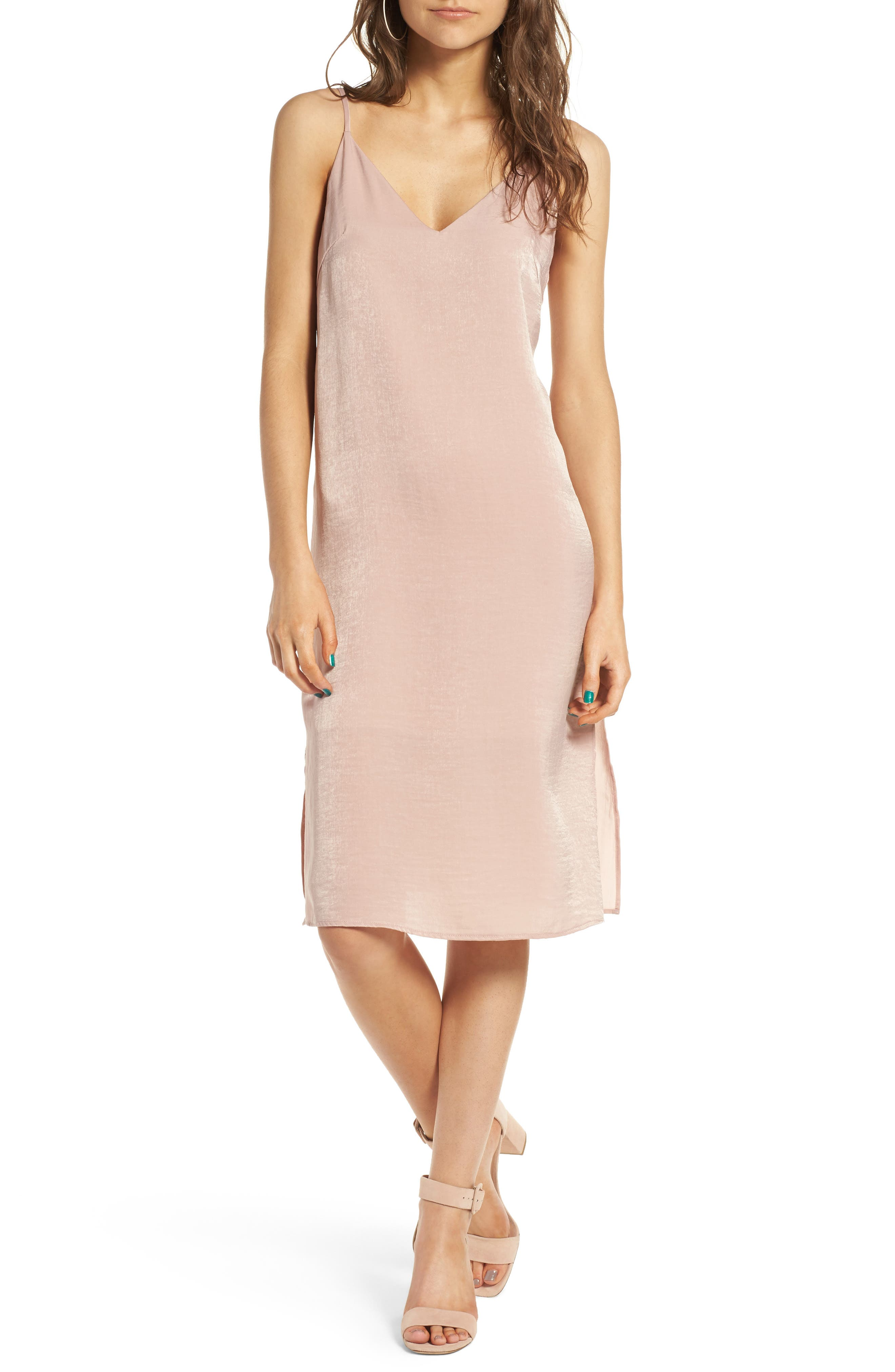 Alternate Image 1 Selected - Soprano Satin Slipdress