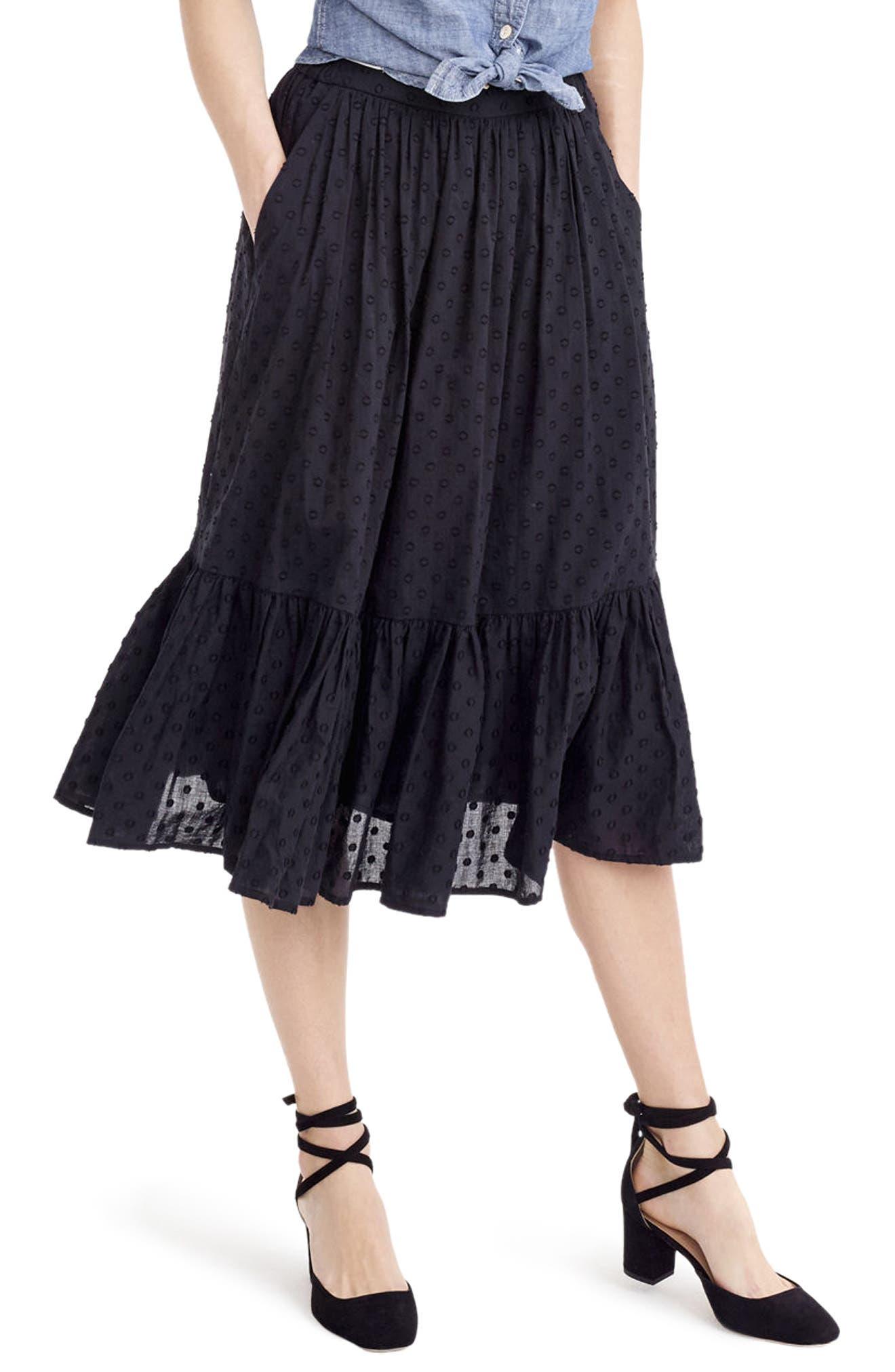 Alternate Image 1 Selected - J.Crew Baluster Clip Dot Skirt (Regular & Petite)