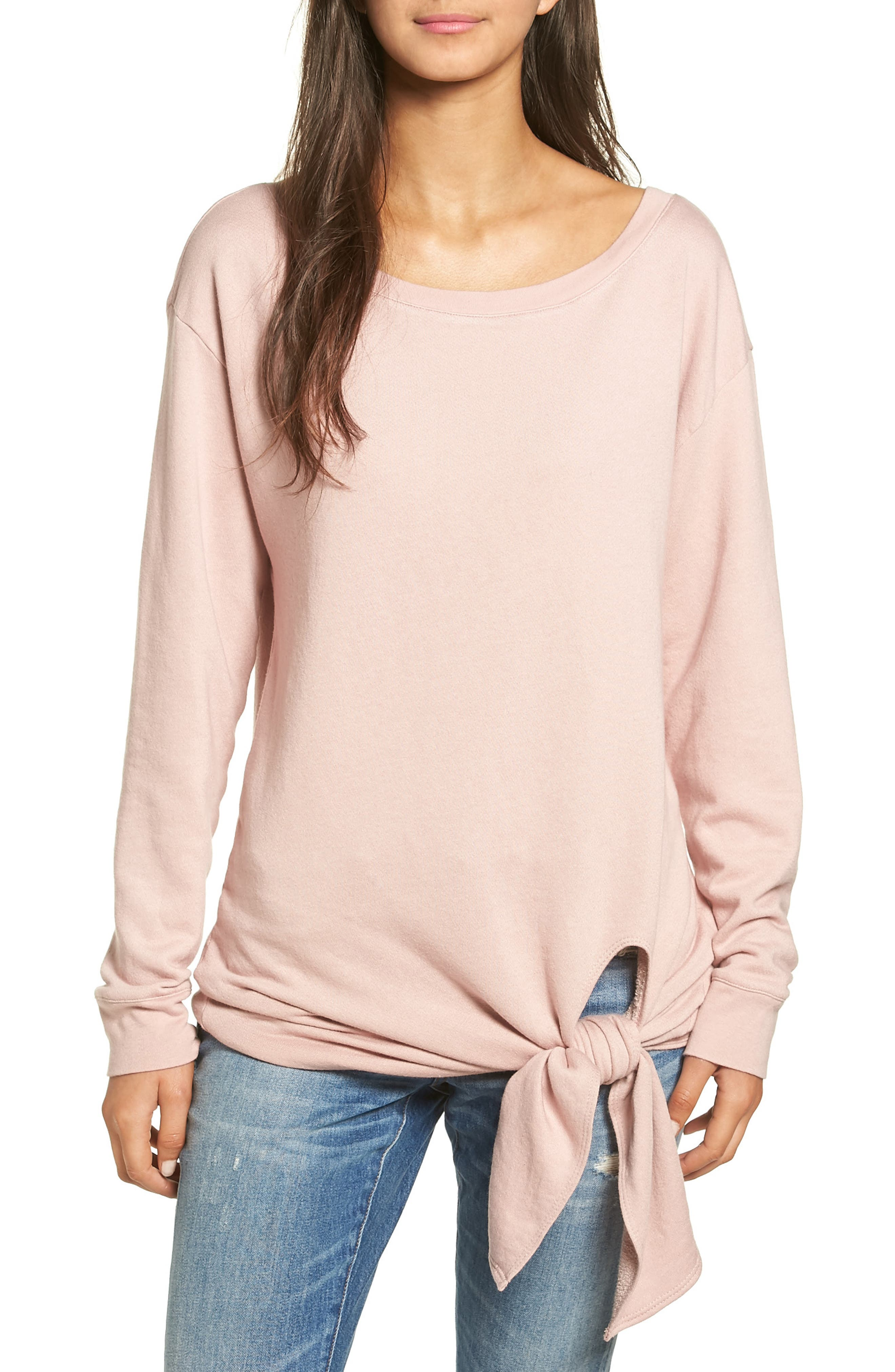 Alternate Image 1 Selected - Hinge Tie Front Pullover