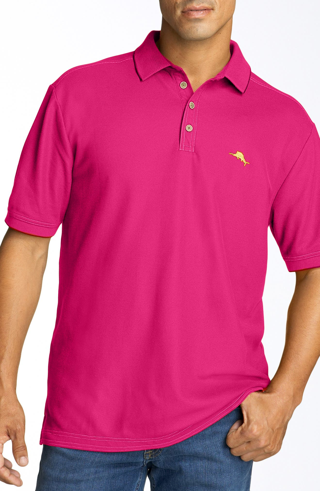 Alternate Image 1 Selected - Tommy Bahama 'The Emfielder' Piqué Polo (Big & Tall)