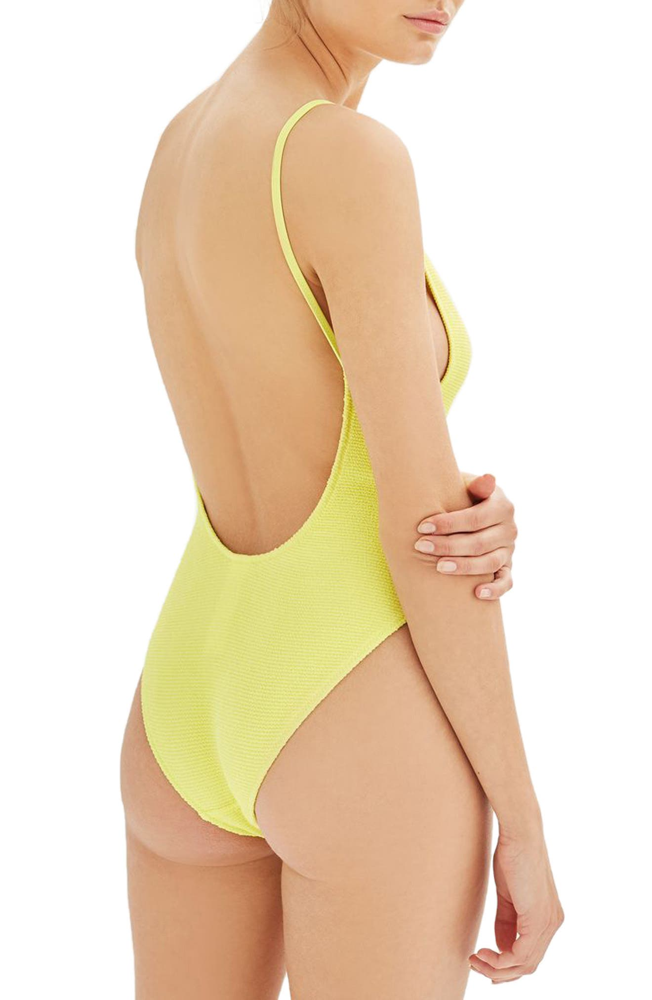 Alternate Image 2  - Topshop Textured One-Piece Swimsuit