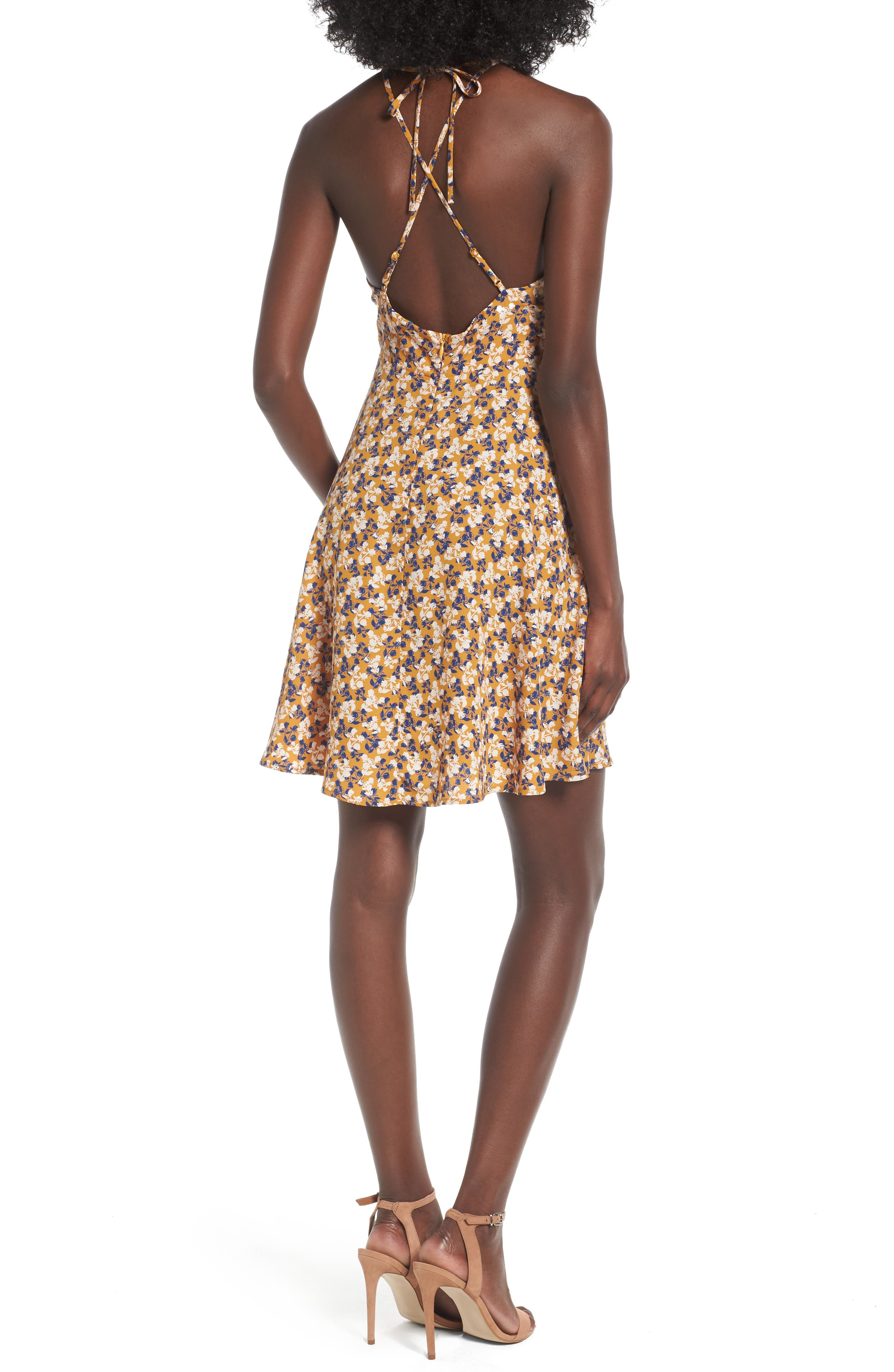 Alternate Image 2  - Soprano Strappy Fit & Flare Dress