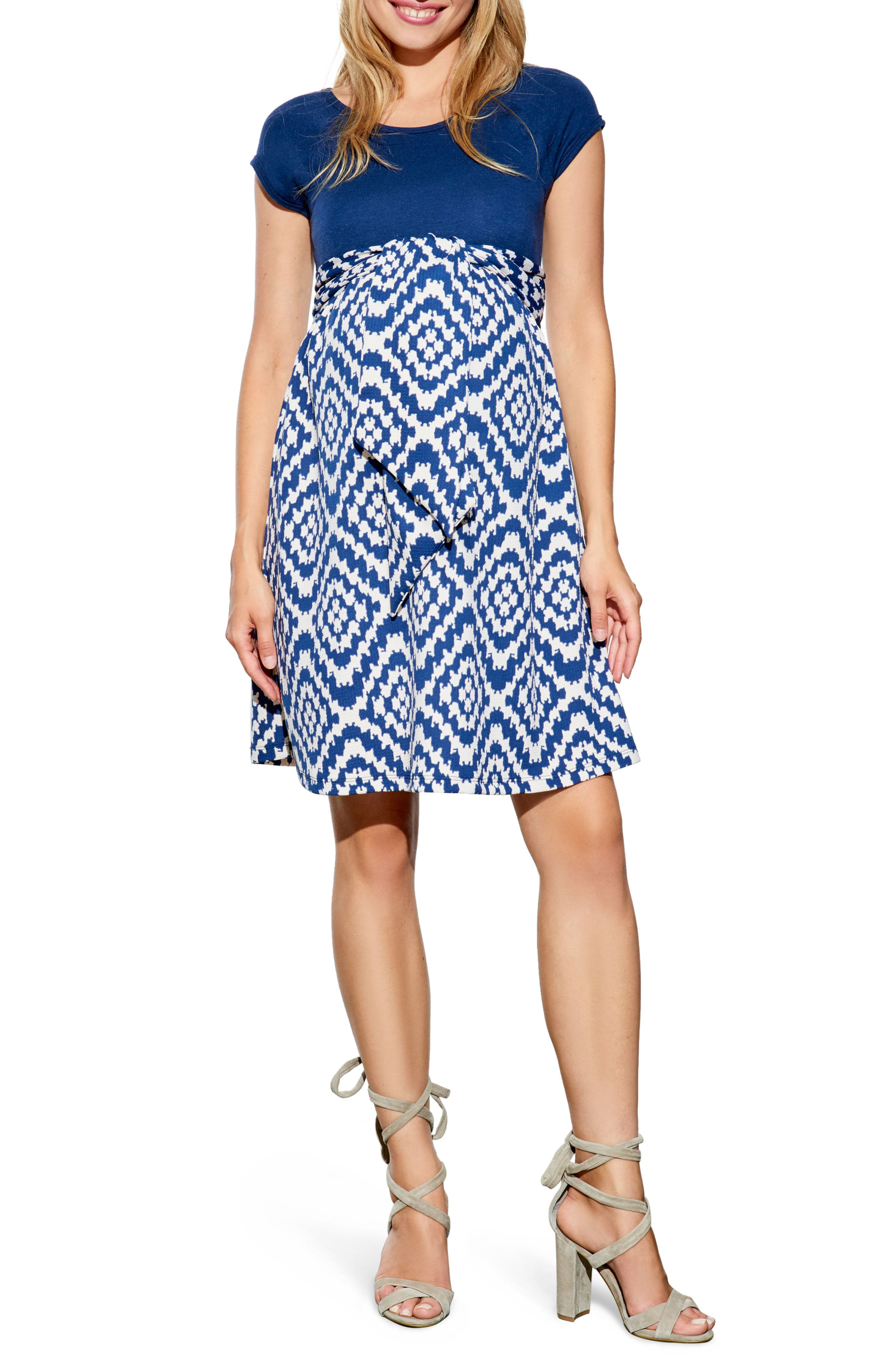 Main Image - Maternal America Tie Front Maternity Dress