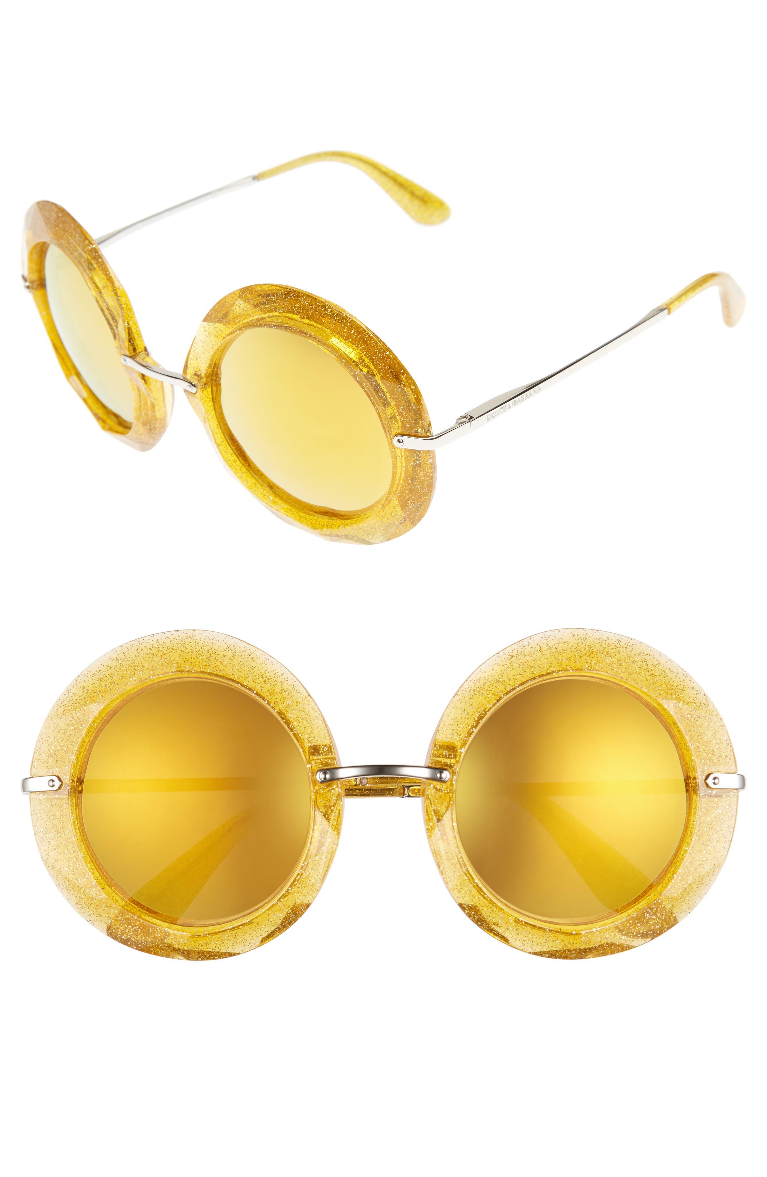 Dolce&Gabbana 50mm Round Sunglasses