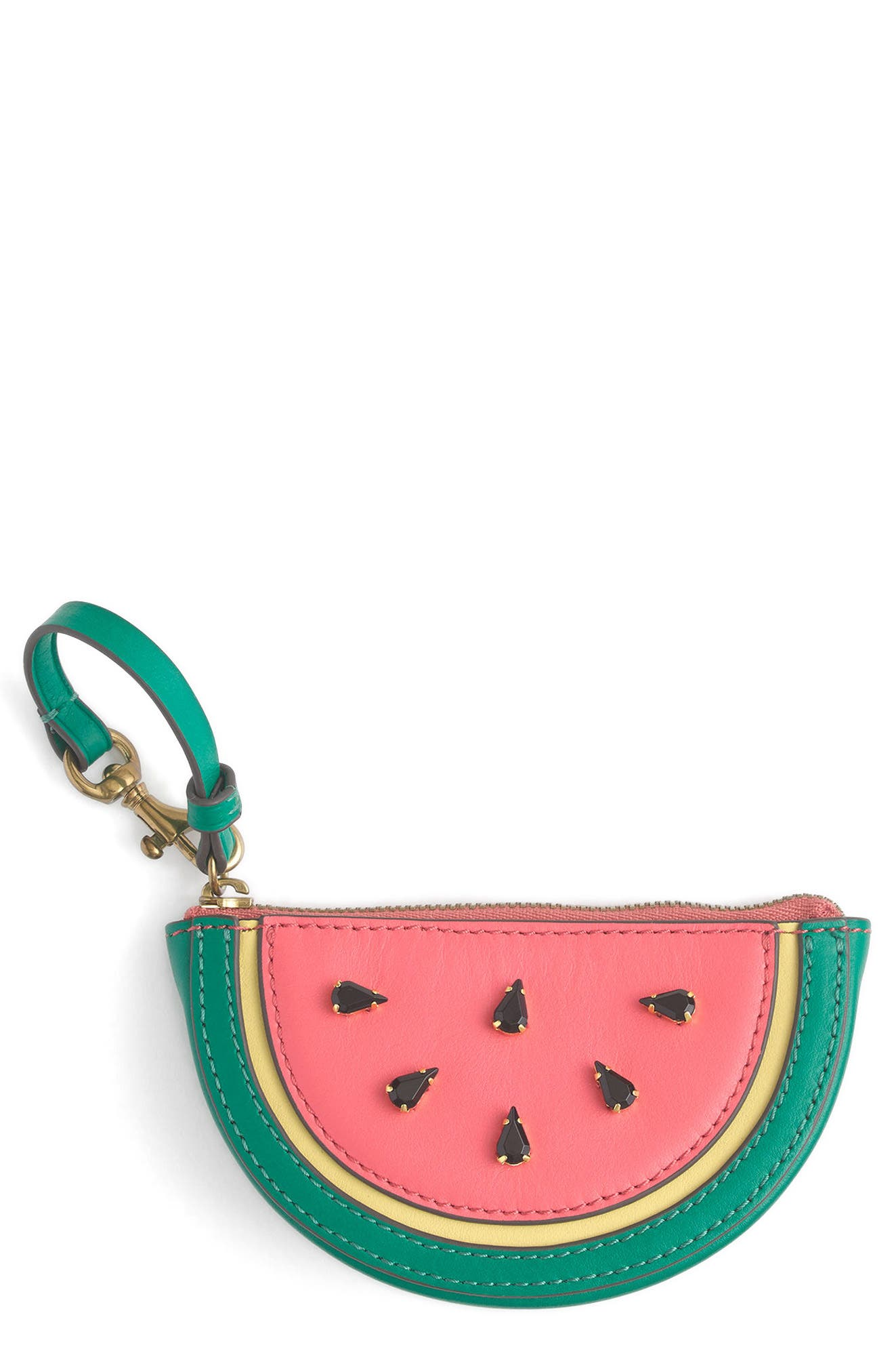 J.Crew Leather Watermelon Coin Purse