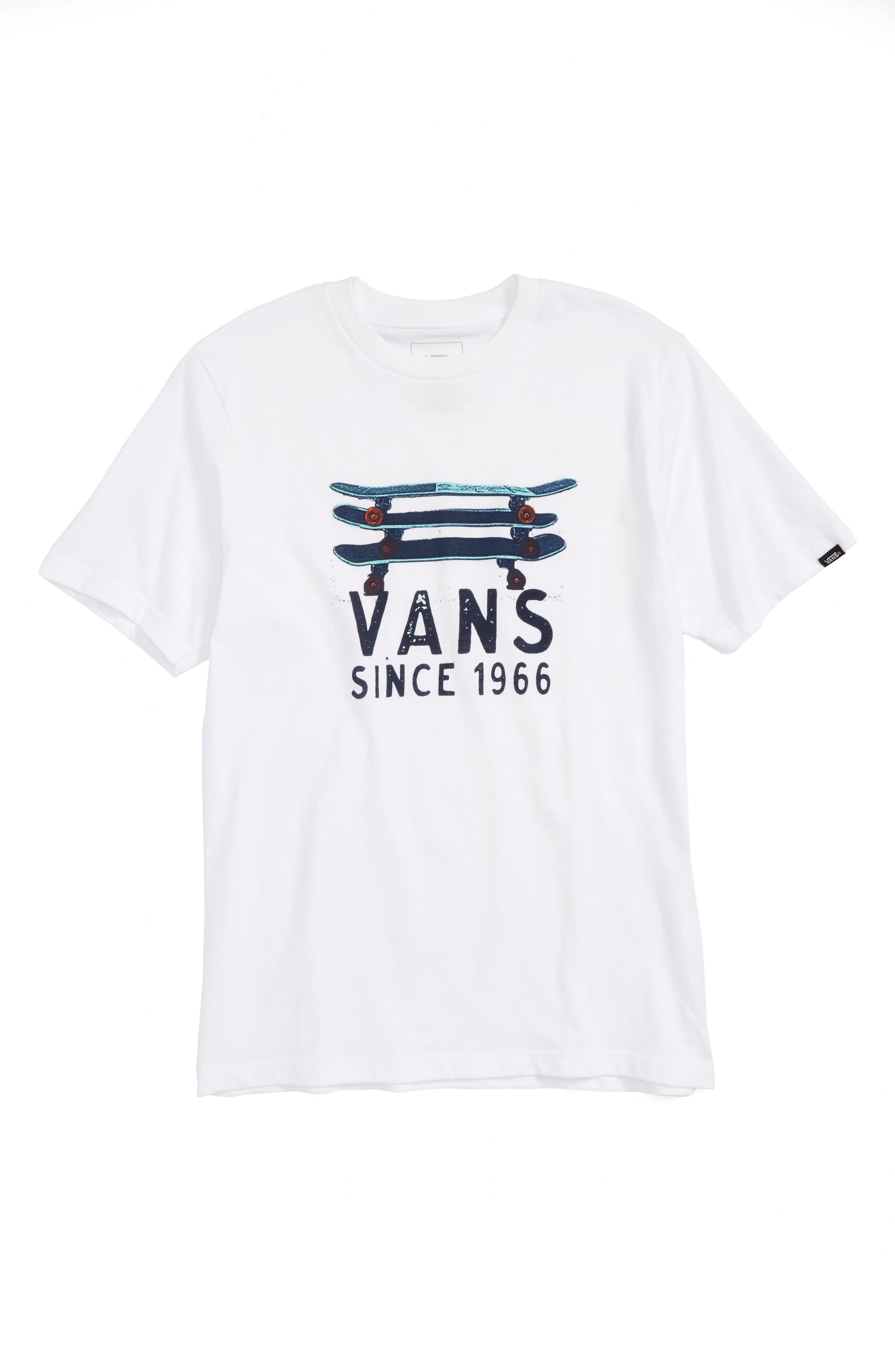 Vans Skate Stack Graphic T-Shirt (Big Boys)