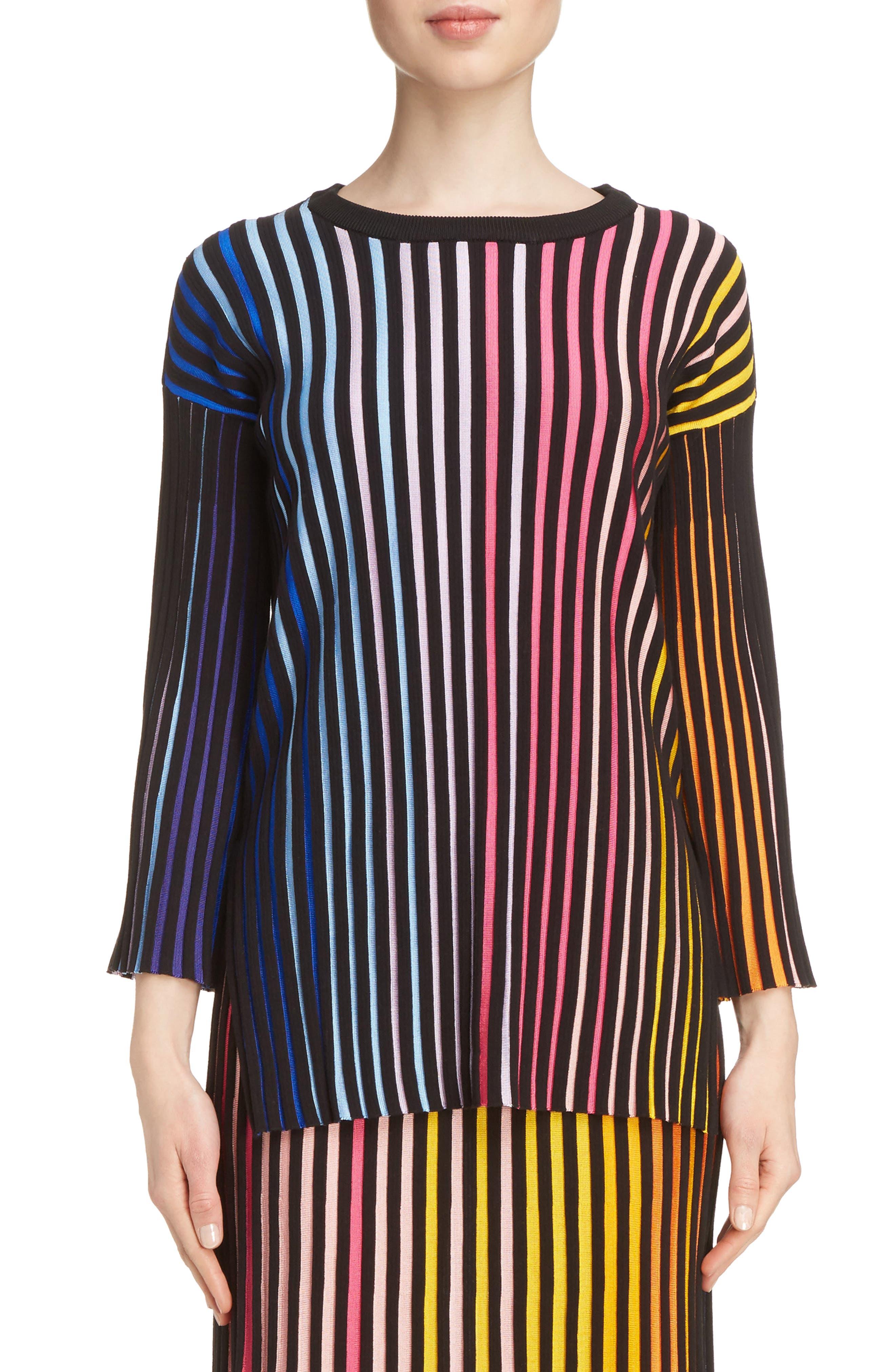 KENZO Stripe Rib Knit Sweater