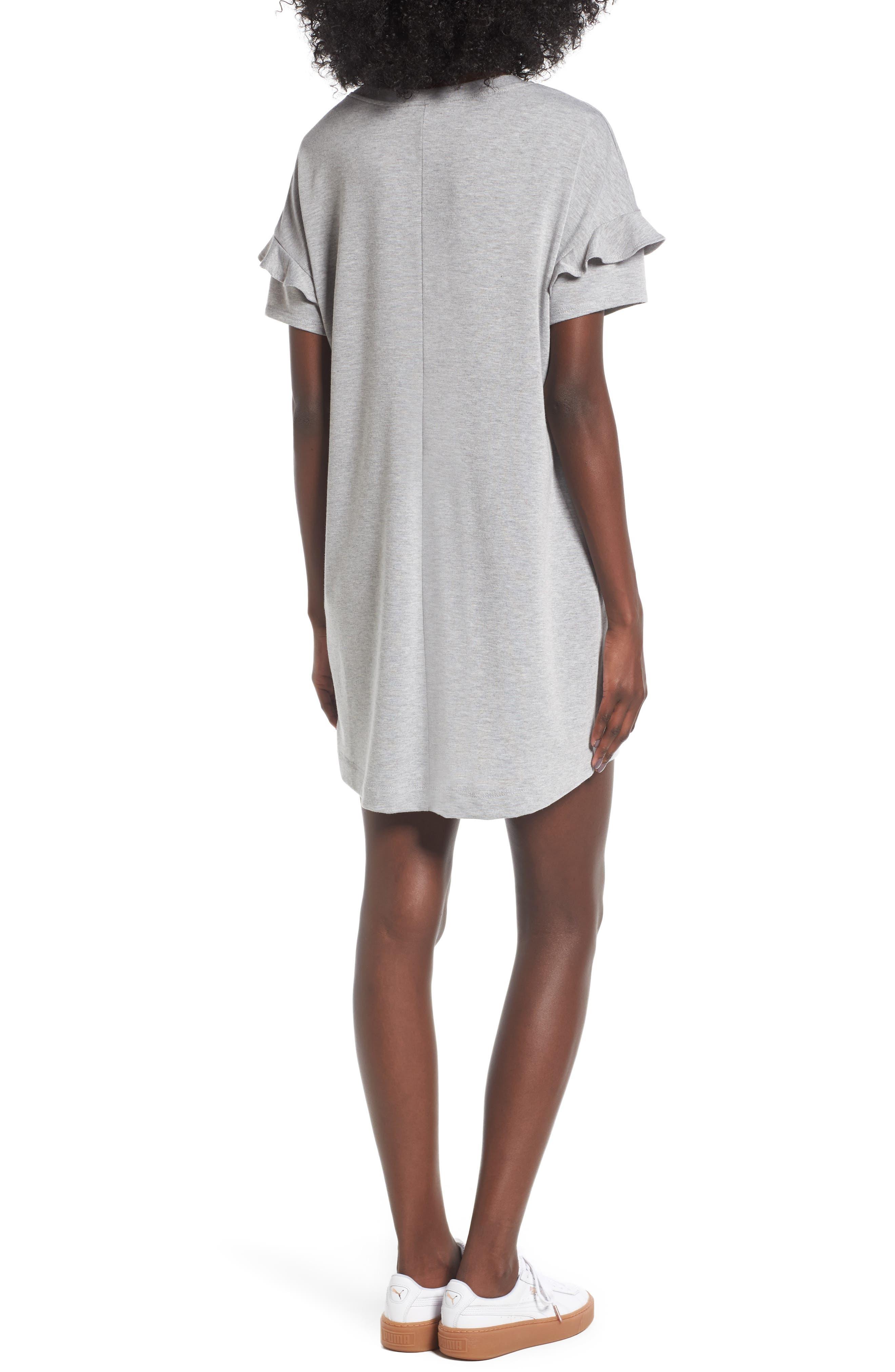 Alternate Image 2  - Lush Ruffle Sleeve T-Shirt Dress