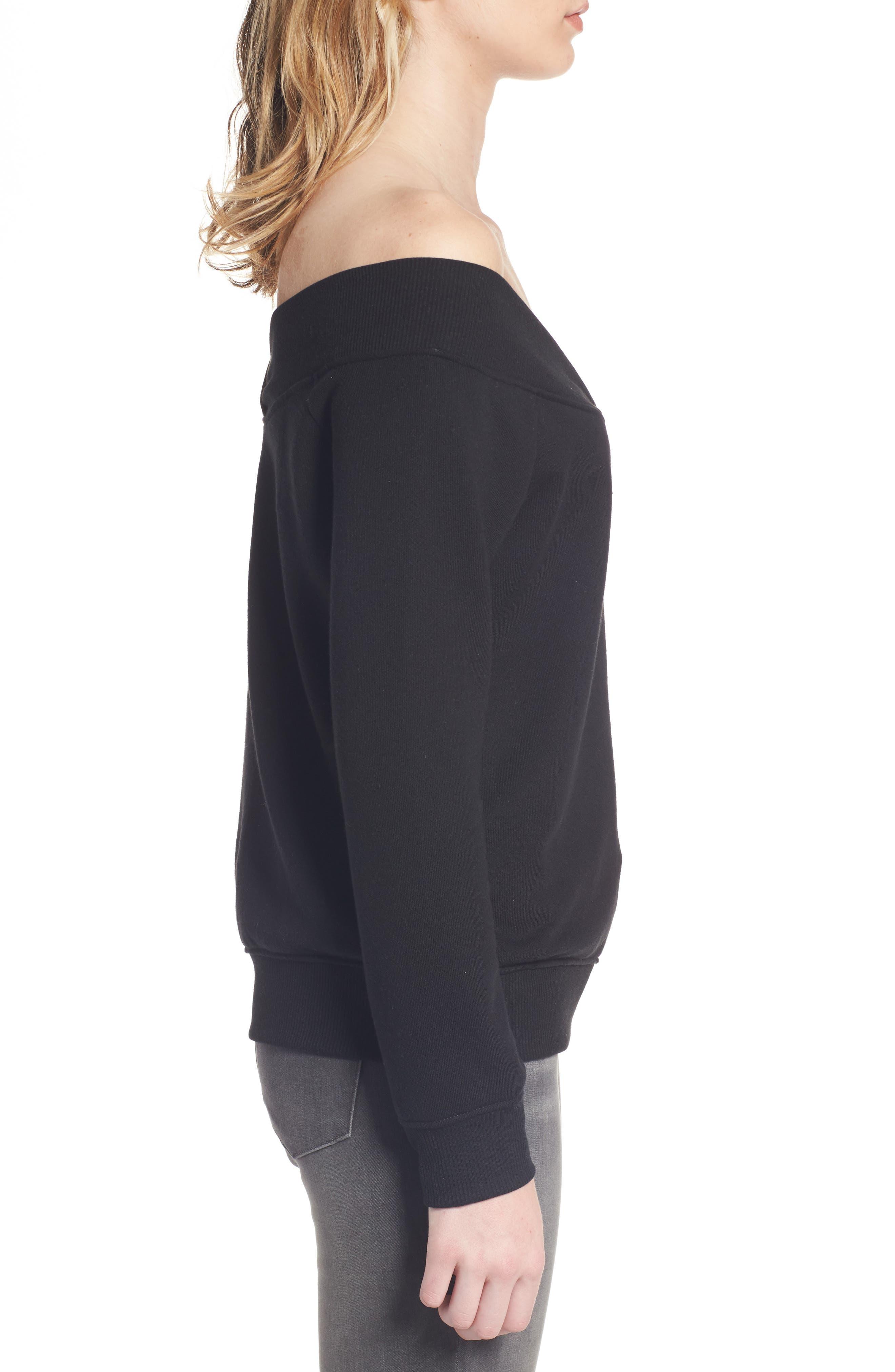 Alternate Image 3  - Socialite Off the Shoulder Sweatshirt