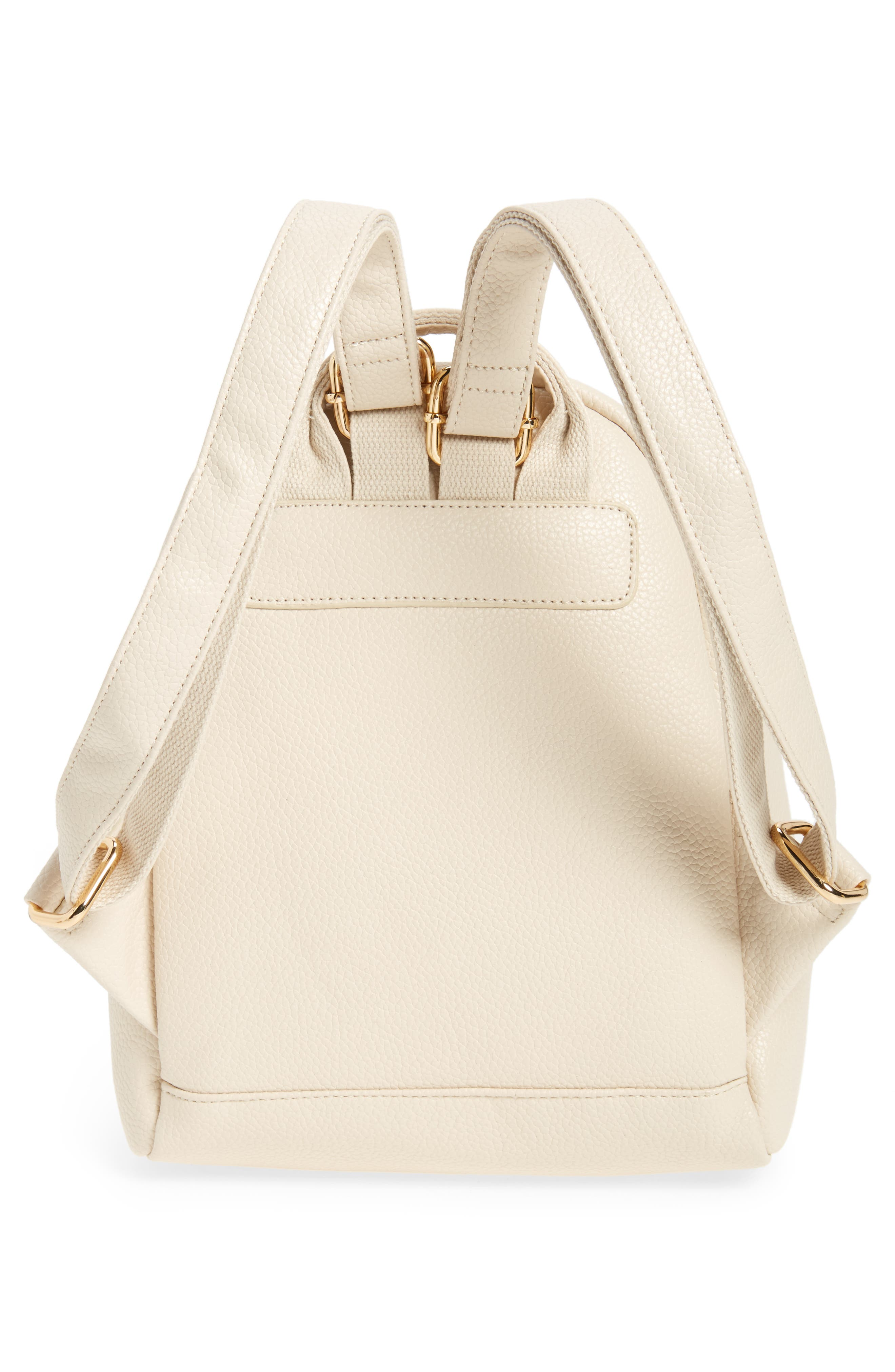 Alternate Image 3  - Girly Faux Leather Mini Zip Backpack