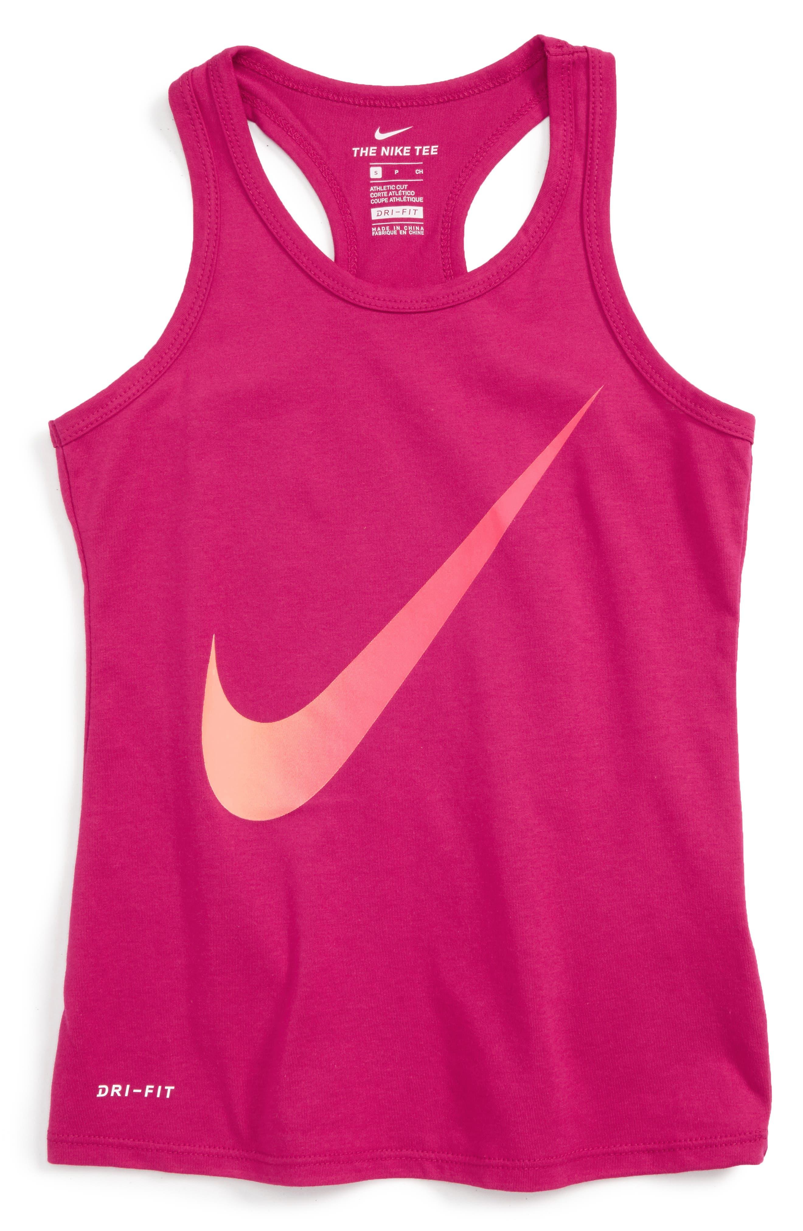Nike Exploded Swoosh Dri-FIT Tank (Big Girls)