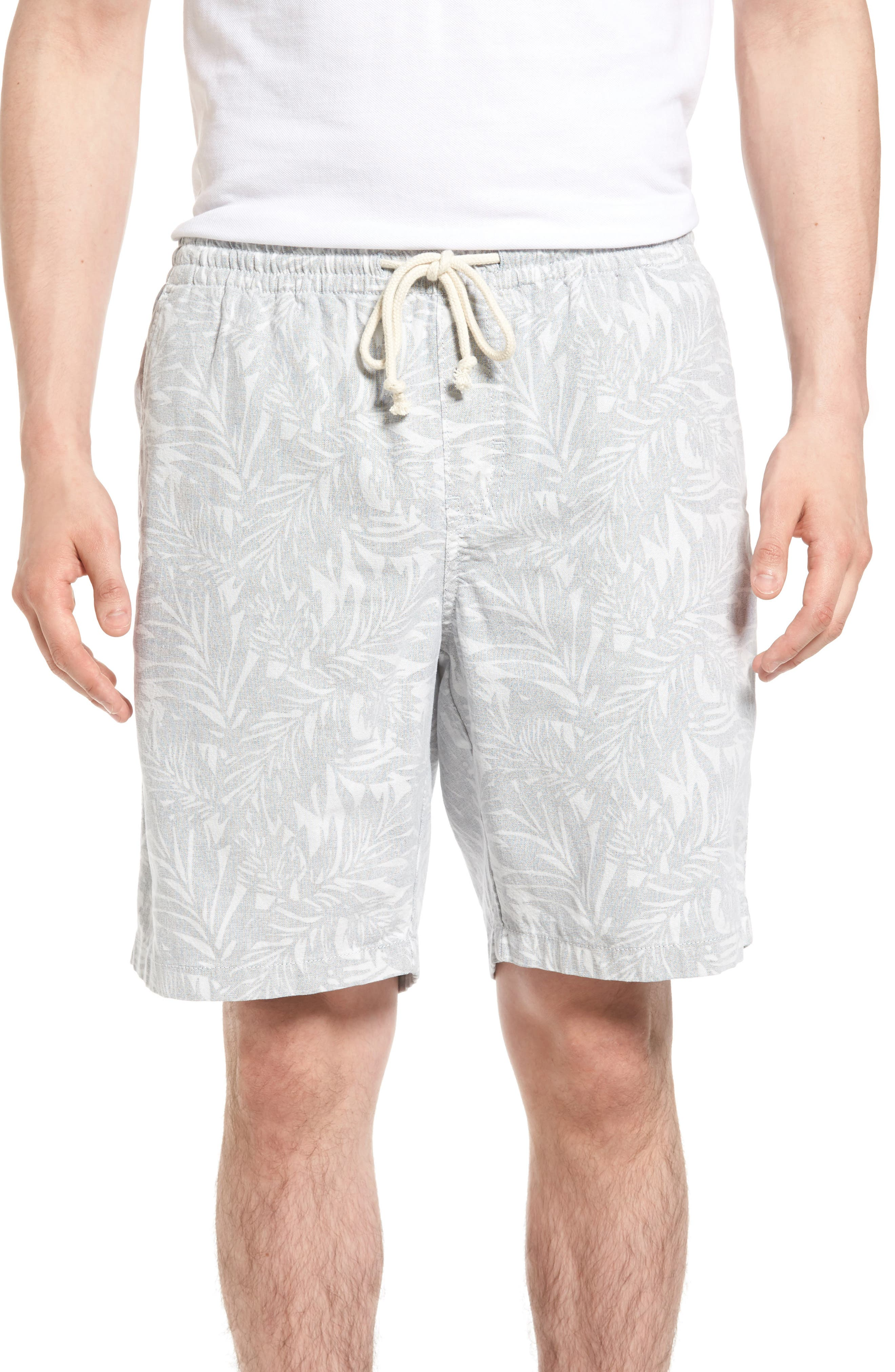 Nordstrom Men's Shop Print Chambray Shorts