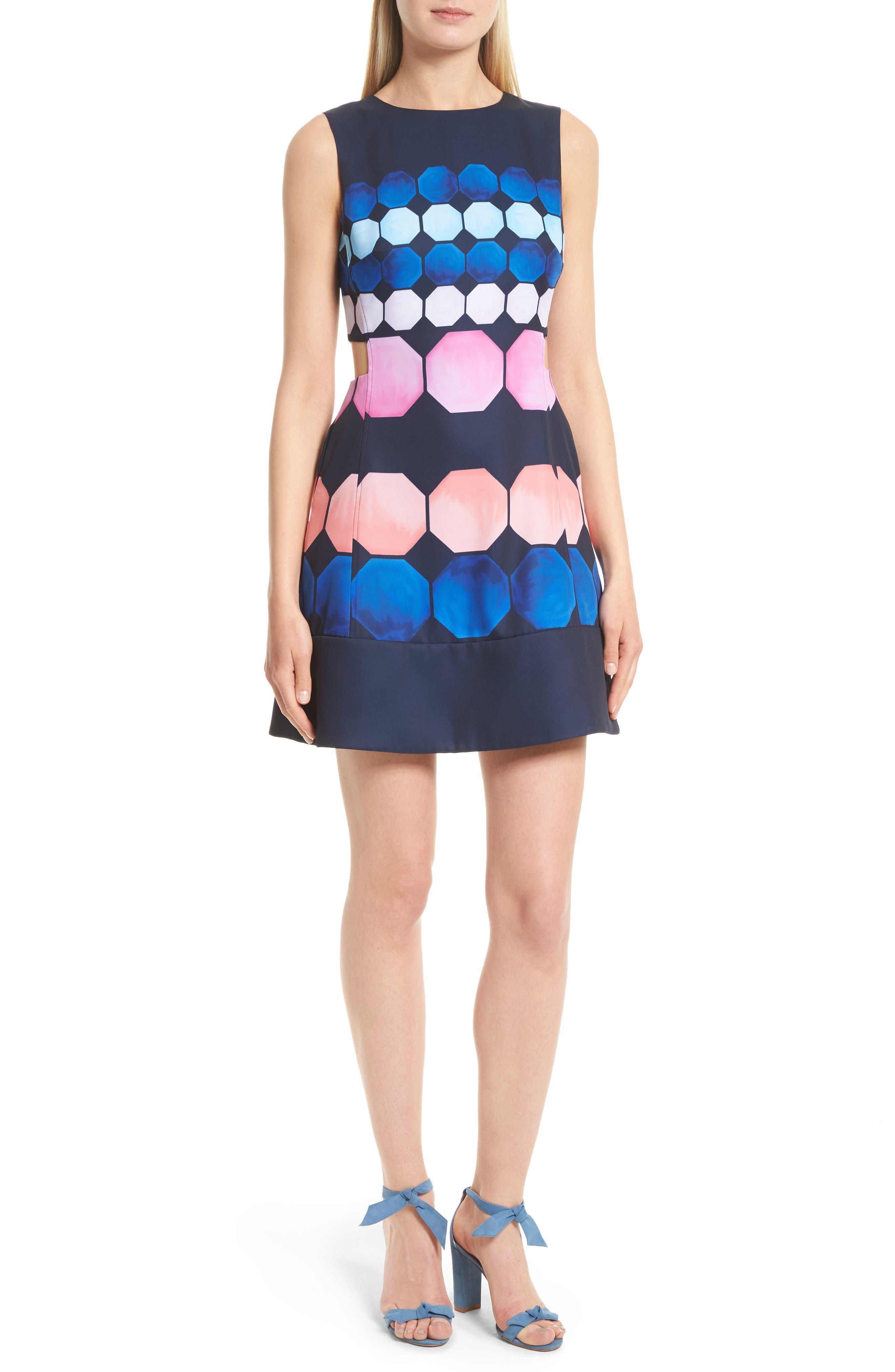 Ted Baker London Seeliah Marina Mosaic Cutout Dress