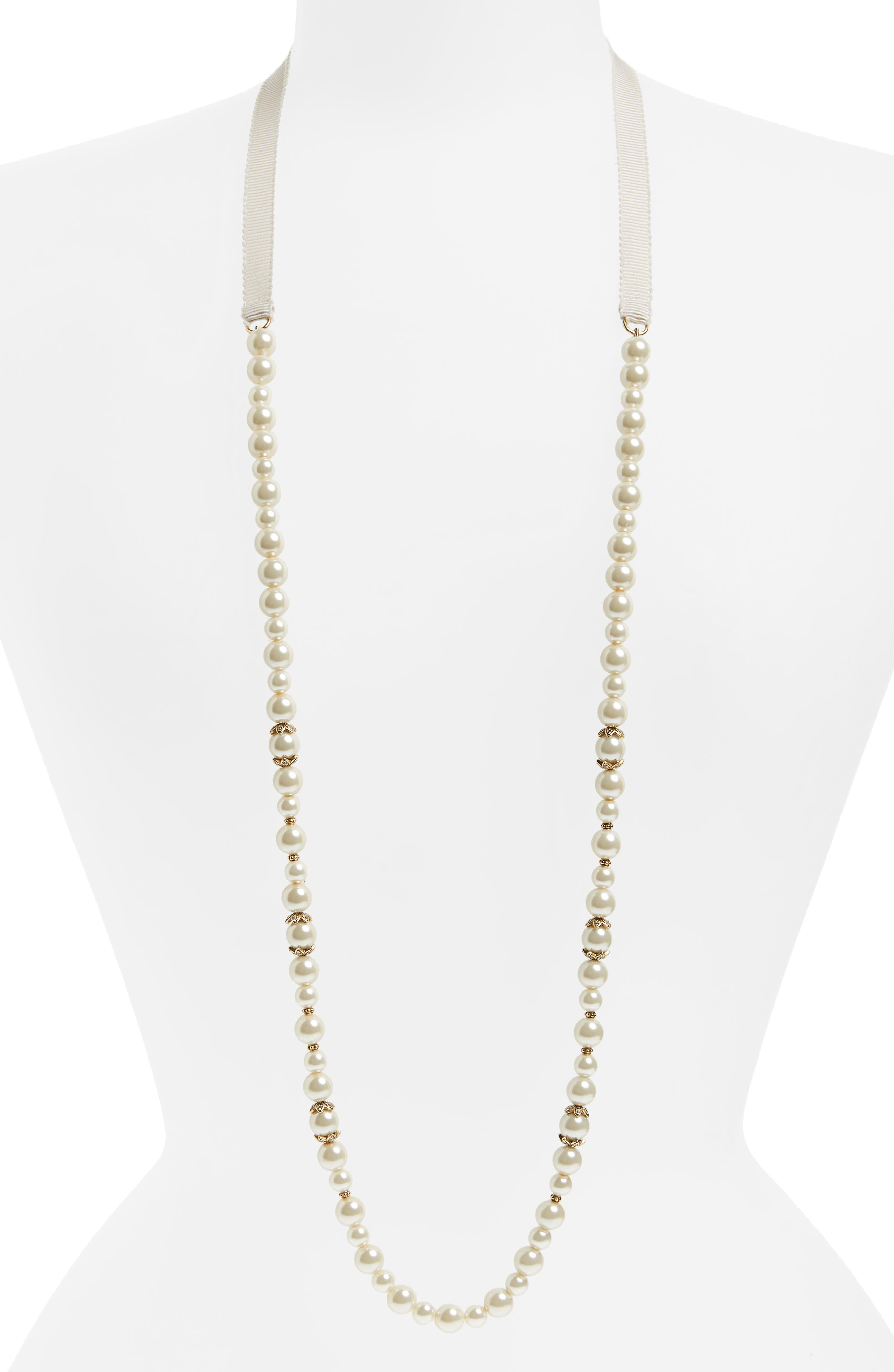 Marchesa Imitation Pearl Strand Necklace