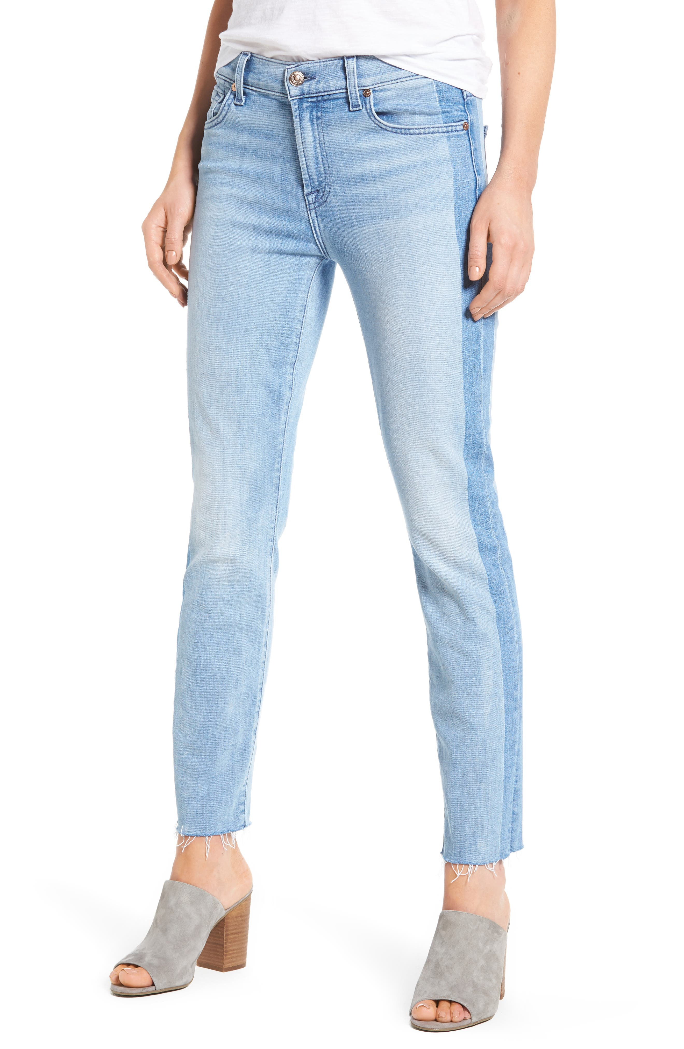 Main Image - 7 For All Mankind® Roxanne Original Ankle Skinny Jeans (Bright Chelsea)